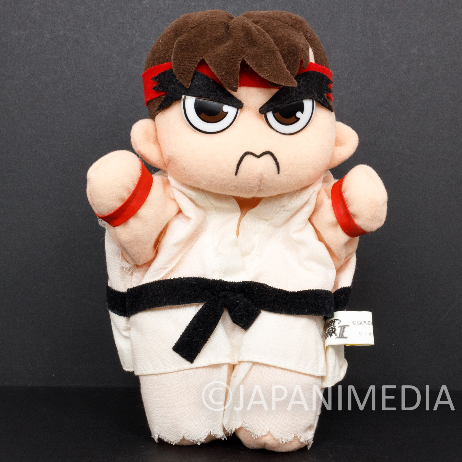 Street Fighter 2 Ryu Hand Puppet Plush Doll Capcom Character JAPAN GAME