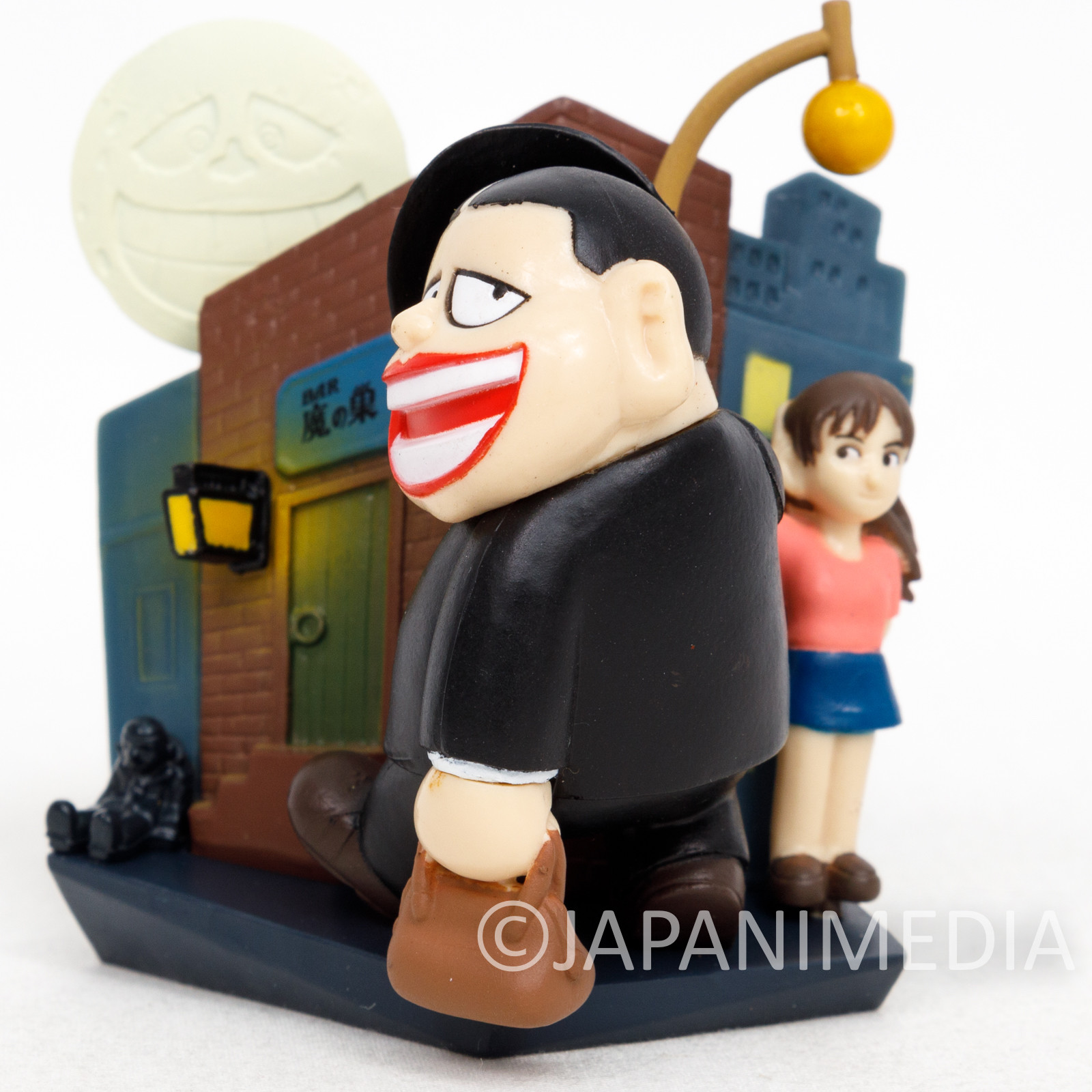 Warau Laughing Salesman Diorama Fukuzo Moguro Miniature Figure JAPAN ANIME 5