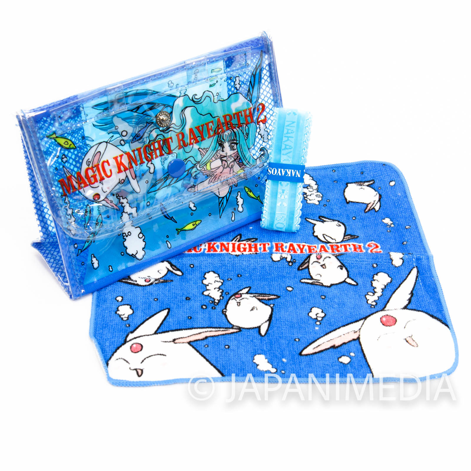 Magic Knight Rayearth Summer Dress up Set [Mini Clear Bag / Mini Towel / Ribbon] JAPAN ANIME