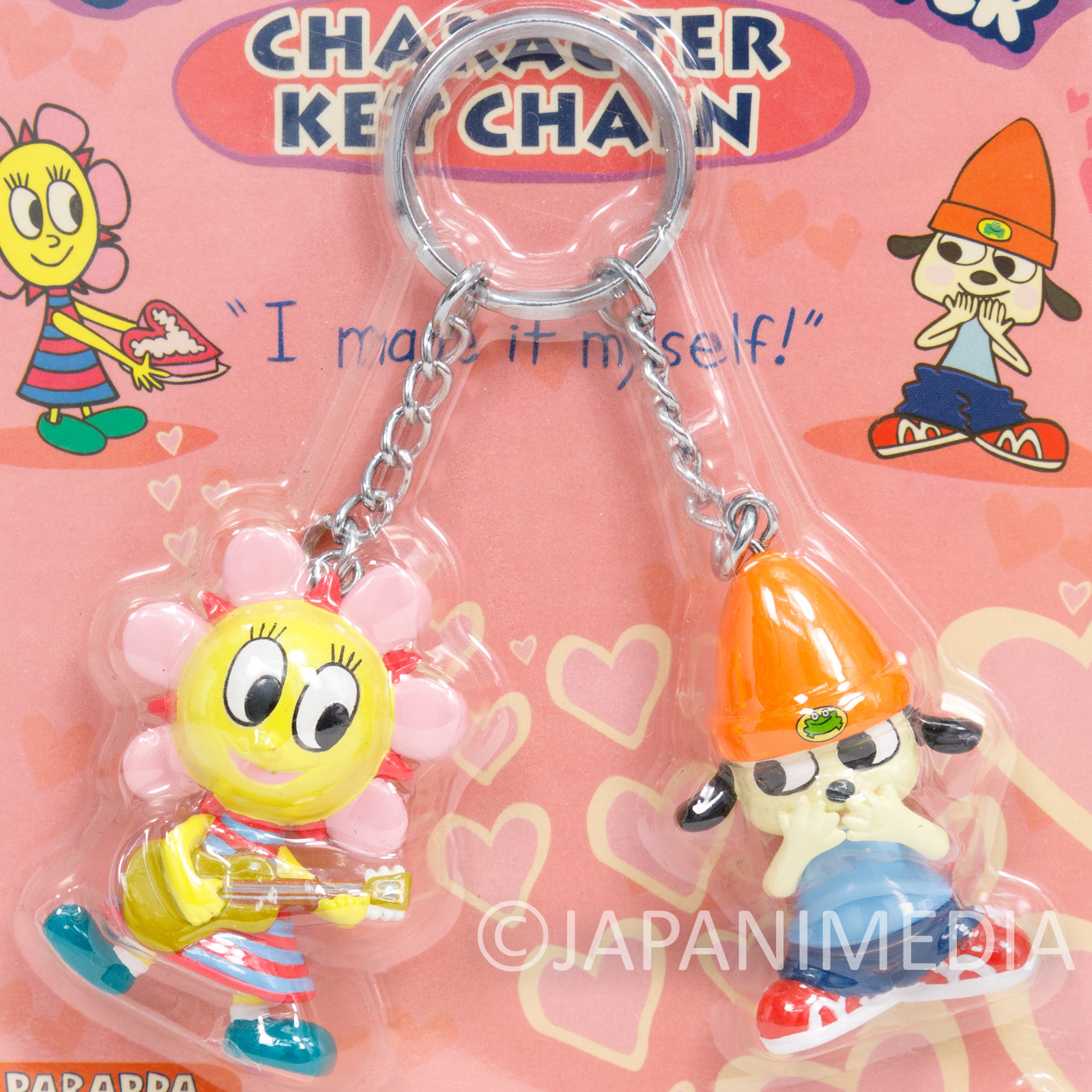 Parappa The Rapper Twin Character Figure Key Chain SUNNY JAPAN ANIME GAME