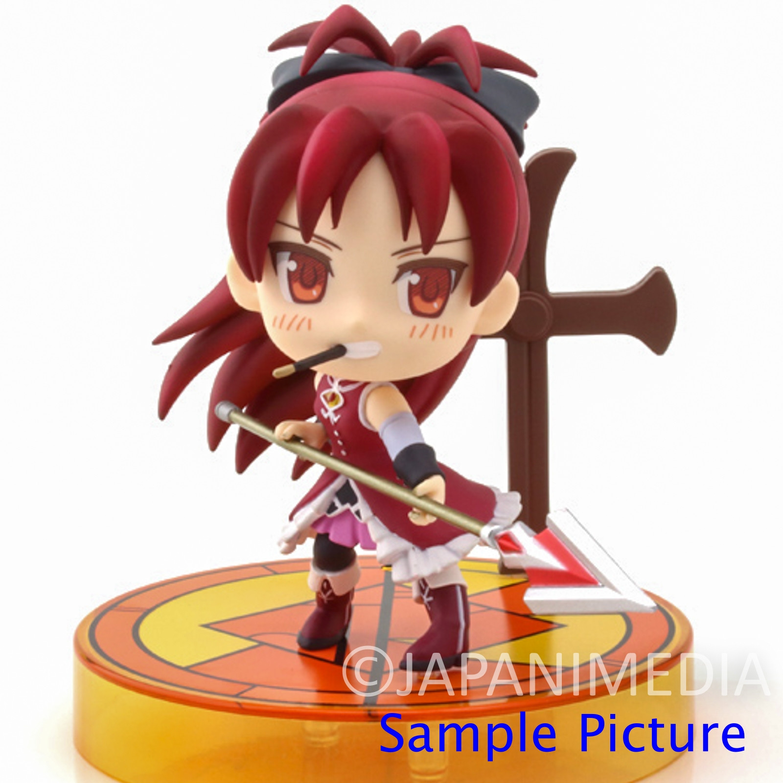 Puella Magi Madoka Magica Kyoko Sakura Kyun Chara Figure JAPAN ANIME