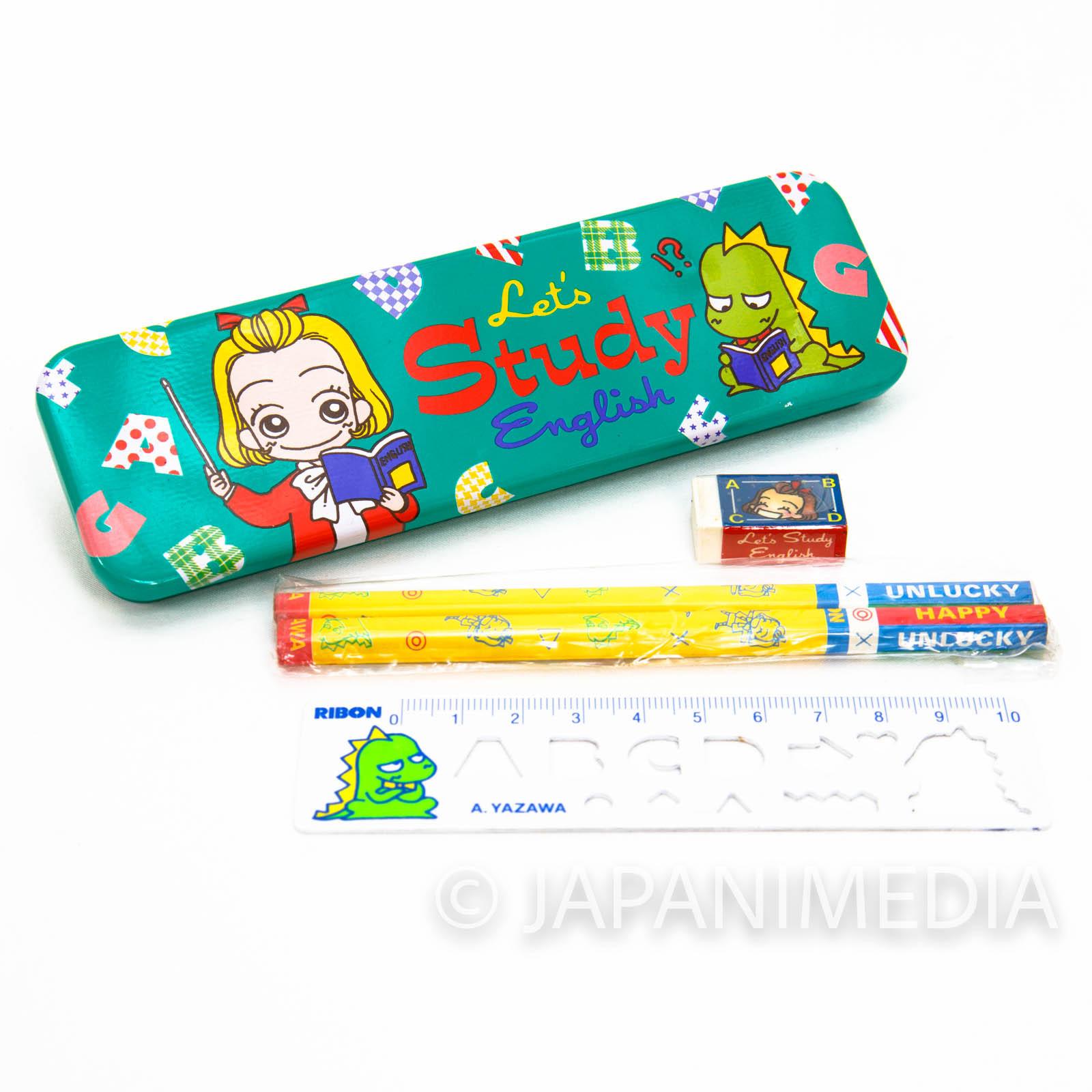 Tenshi Nanka ja Nai Pen Case Set (Pen Case/Pencil/Eraser/Ruler) Midori & Sudo Zaurus Ribon Magazine JAPAN 2