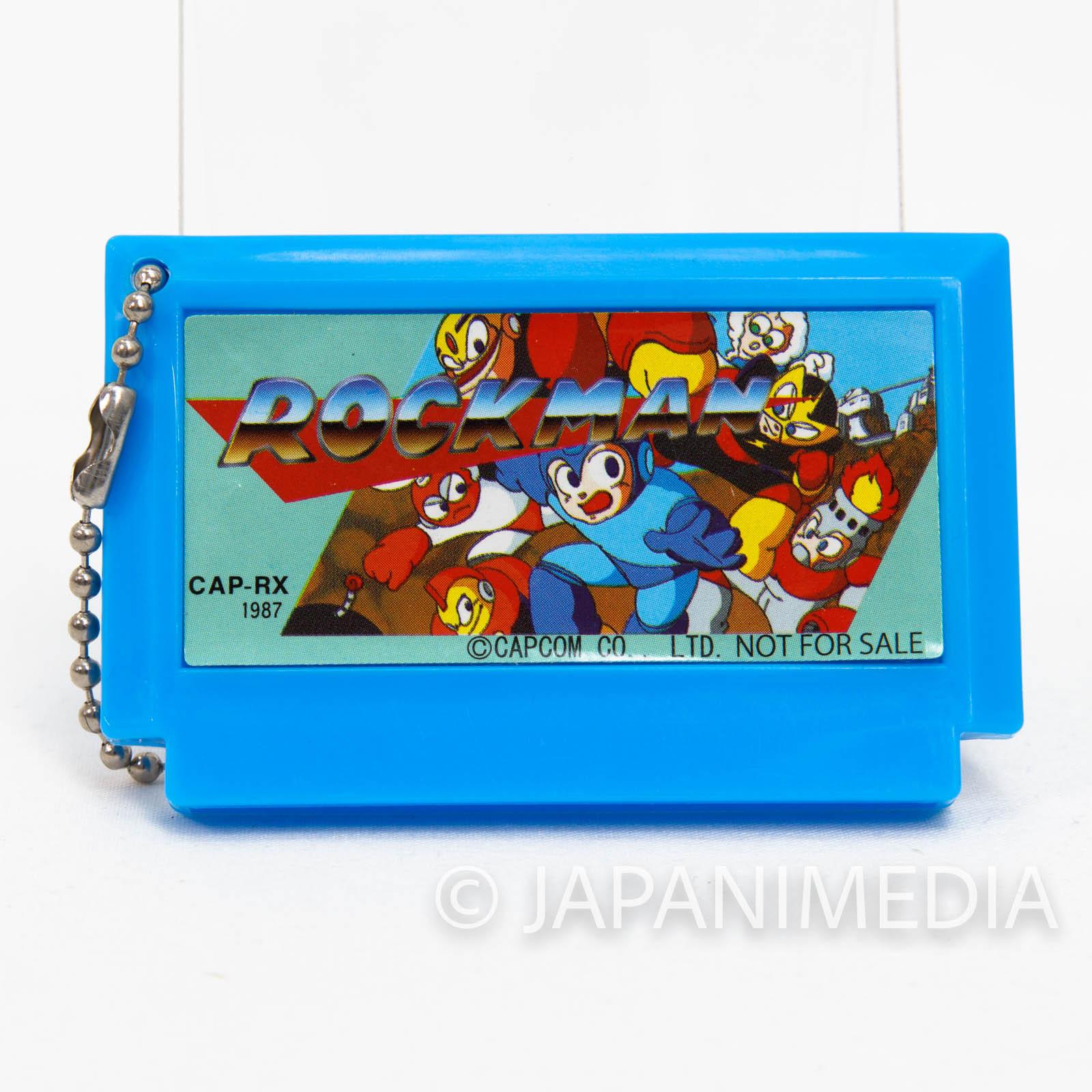Rockman Cassette Type Mascot Ball Keychain Capcom JAPAN GAME FAMICOM NEC
