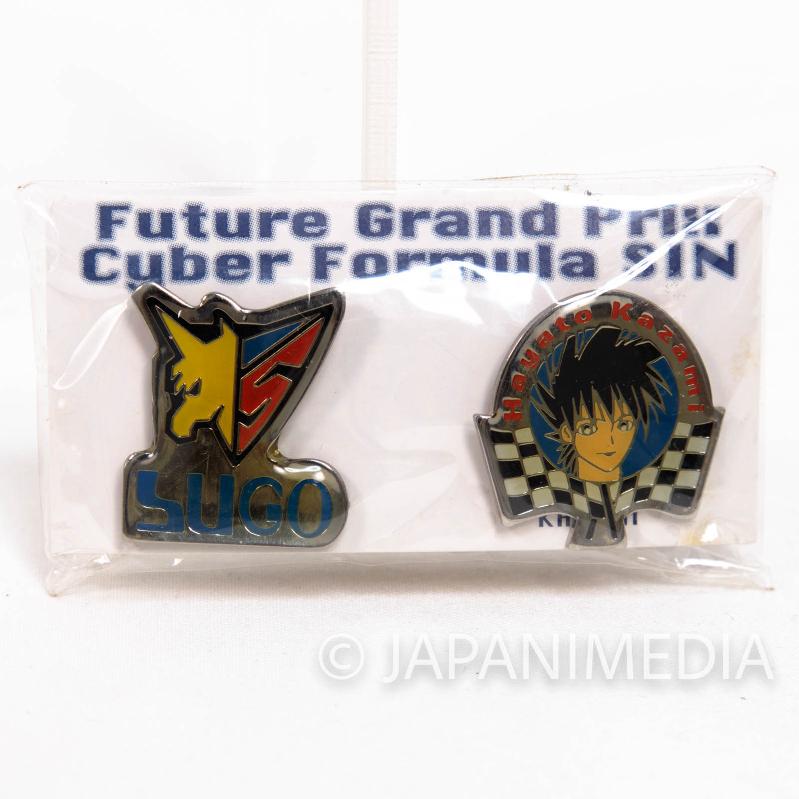 Future GPX Cyber Formula SIN Hayato Kazami & SUGO Pins 2pc set JAPAN ANIME