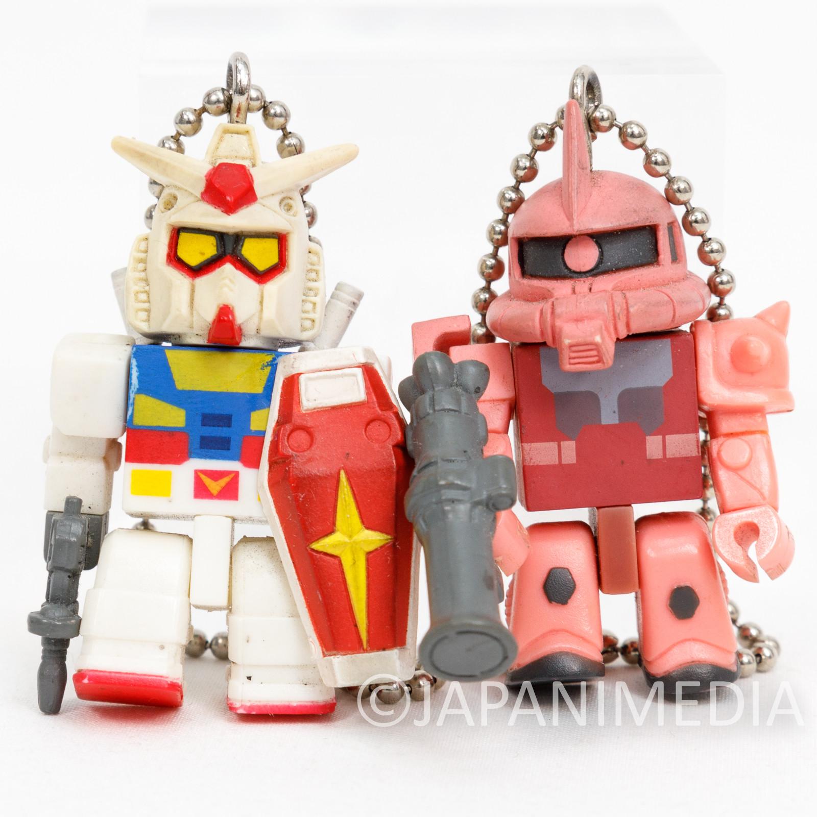 Mobile Suit Gundam RX-78 & MS-06S Char Red Zaku Figure Ballchain Set