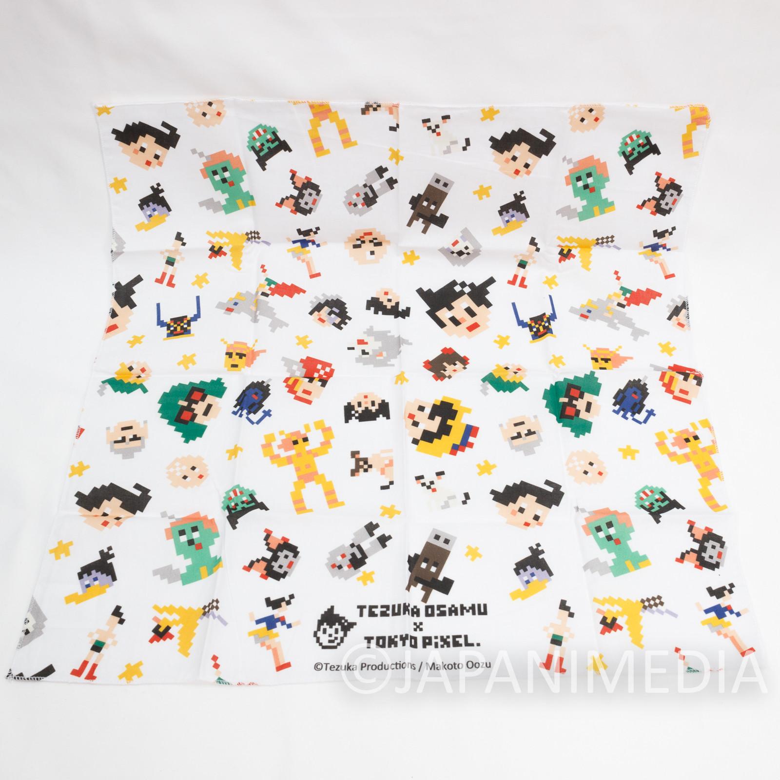 Osamu Tezuka Tokyo Pixel Dot Character Handkerchief 19x19inch #1 JAPAN ANIME