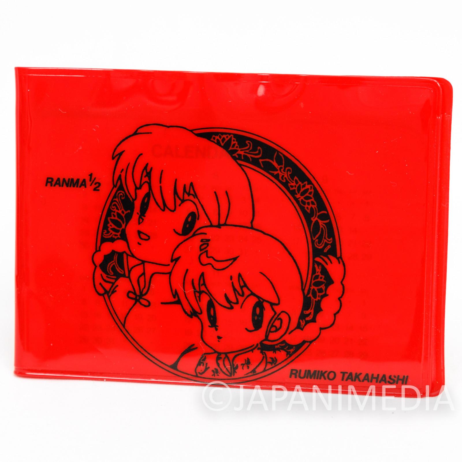 Ranma 1/2 Pass Card Case Holder w/Calendar Paper & Memo Pad RUMIKO TAKAHASHI