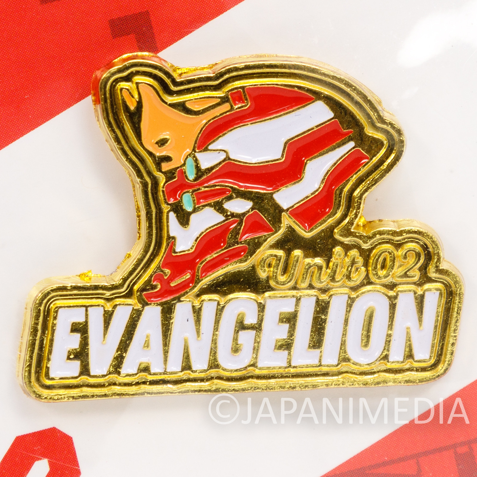 Evangelion EVA Unit 02 Pins JAMMY JAPAN ANIME