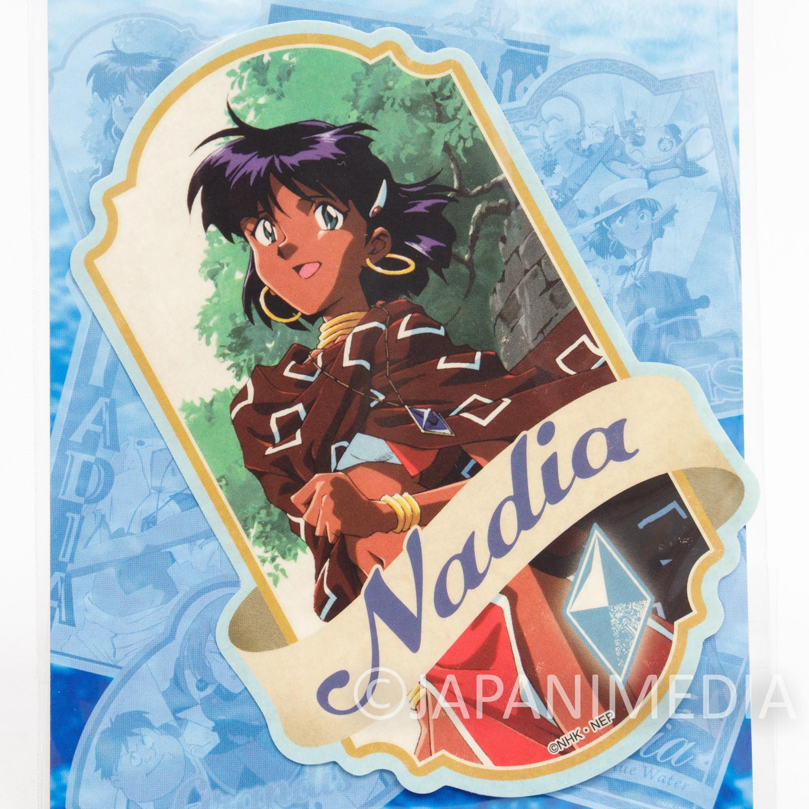 Nadia The Secret of Blue Water Travel Sticker#3 ANIME GAINAX