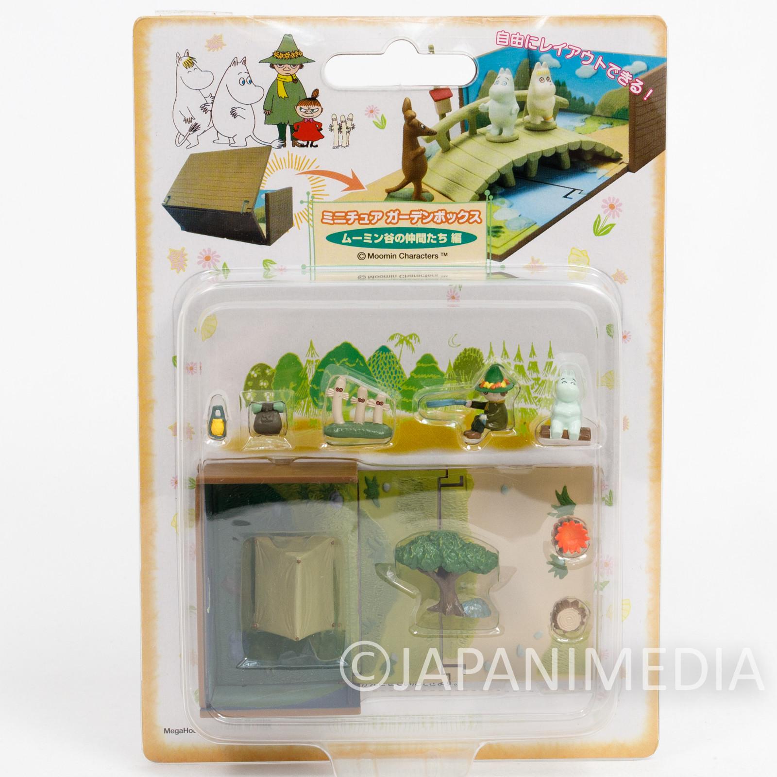 RARE! Moomin Characters Miniature Garden Snufkin & Hattifatteners Megahouse JAPAN