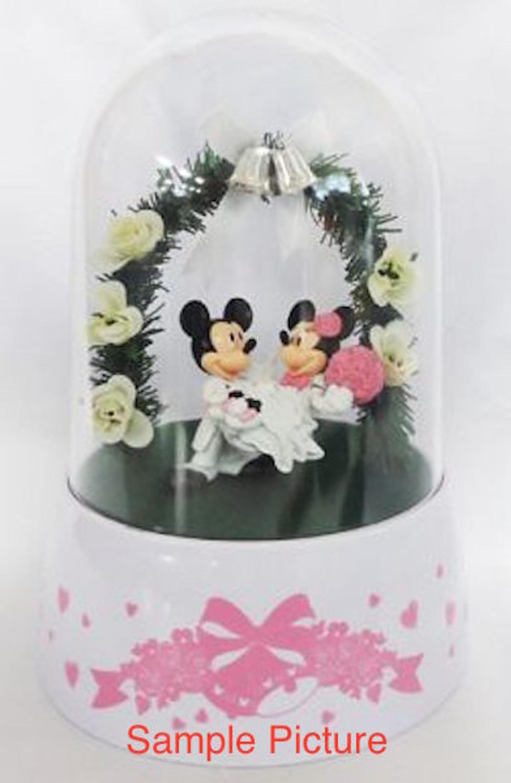 Disney Mickey & Minnie Mouse Twinkle Wedding Dream Dome Figure White Ver. JAPAN
