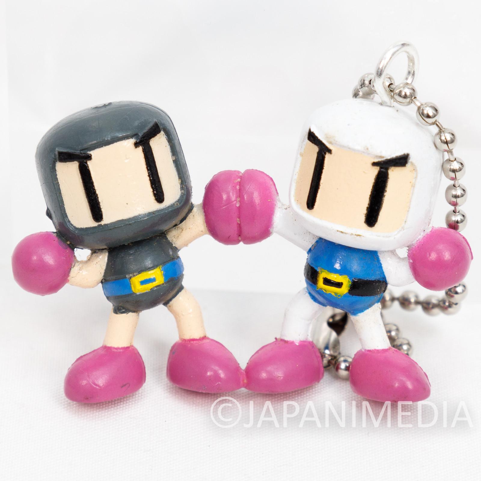 Bomberman & Black Bomberman Figure Ballchian Hudson FAMICOM NES