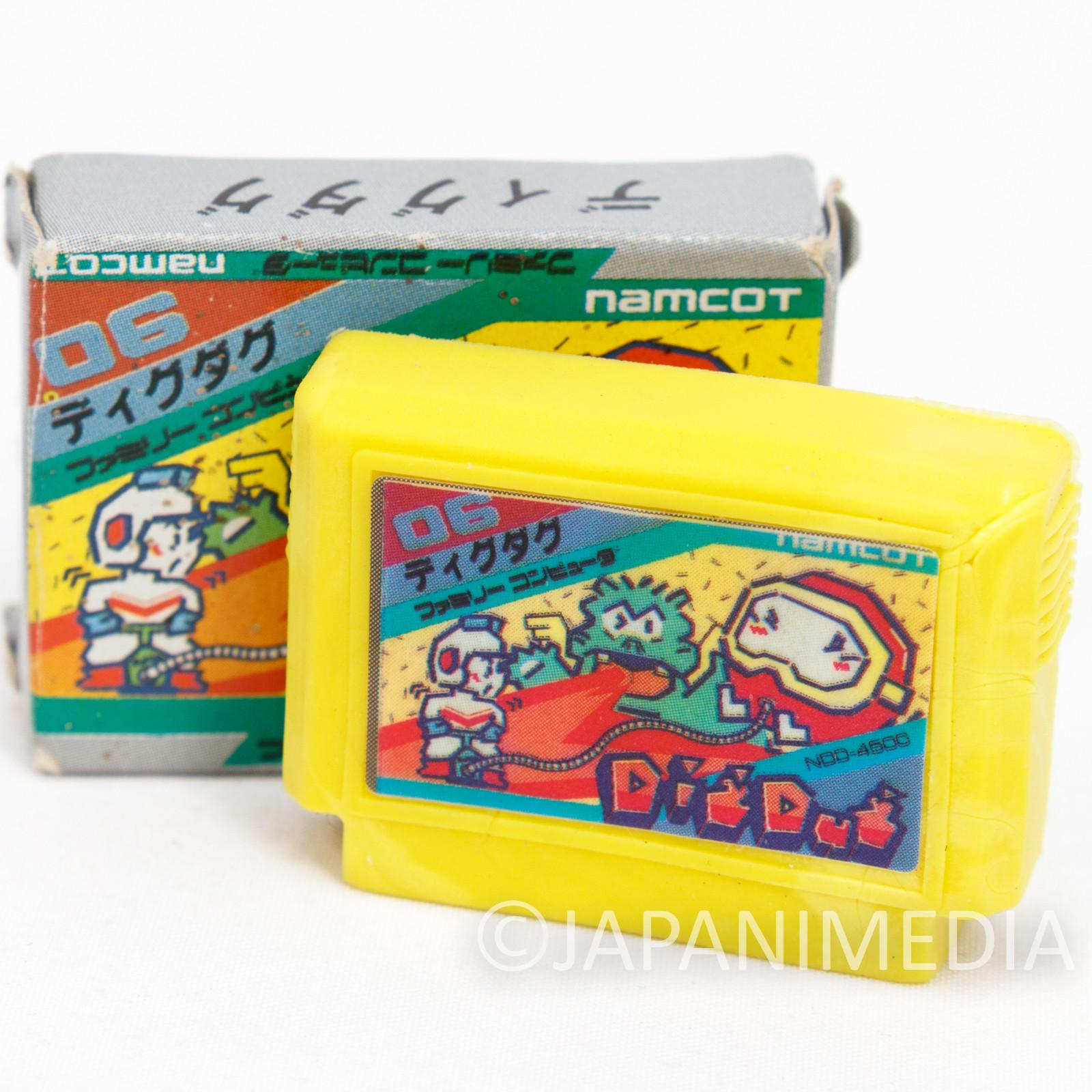 Dig Dug Cassette Mini Eraser AMADA JAPAN FAMICOM NES MAMCO Nintendo