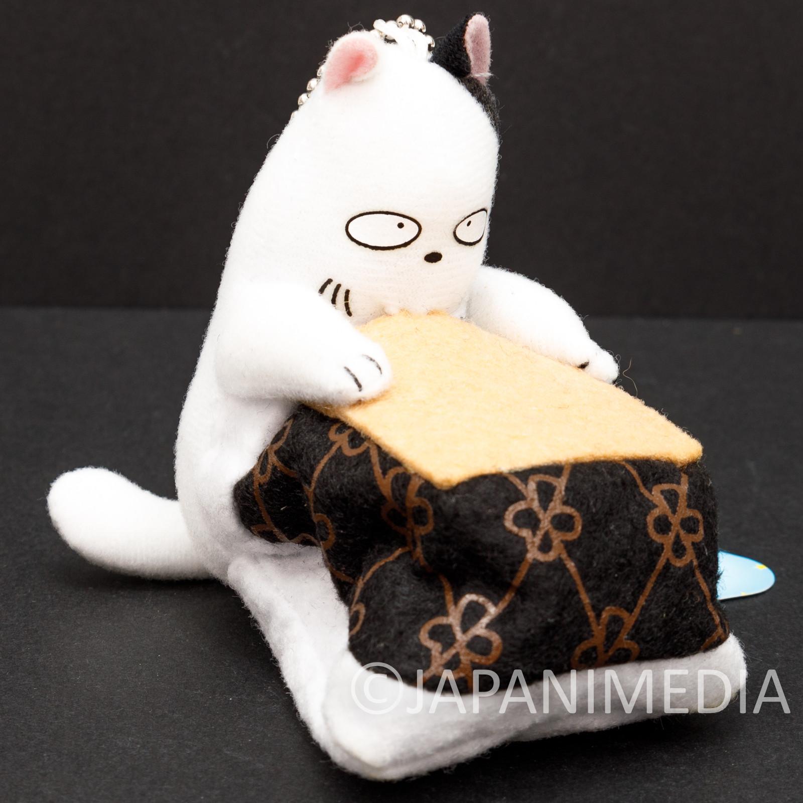 Urusei Yatsura Kotatsu Neko Cat Plush Doll Ballchain JAPAN RUMIKO TAKAHASHI