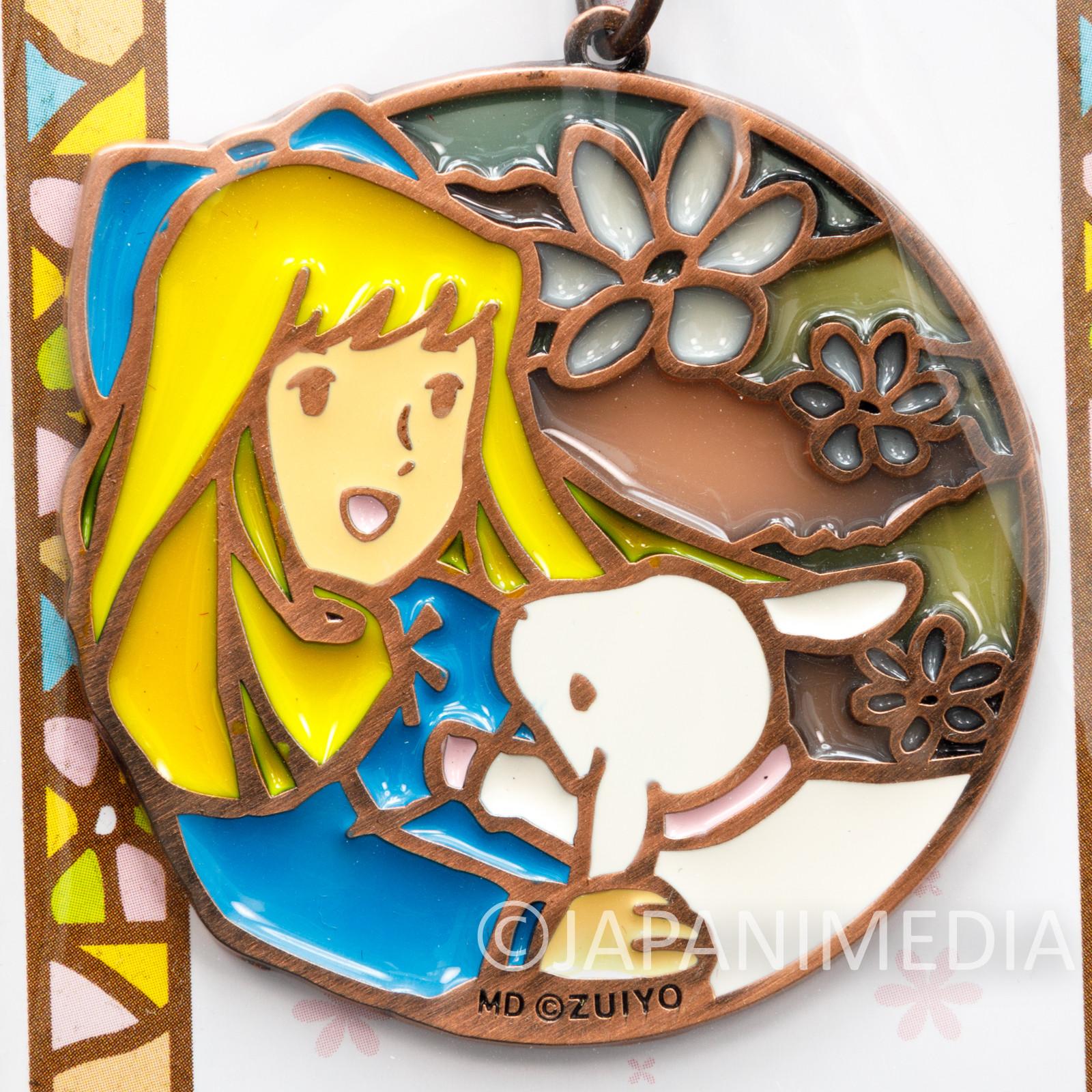RARE Heidi Girl of the Alps Clara Stained Glass type Key Chain JAPAN ANIME