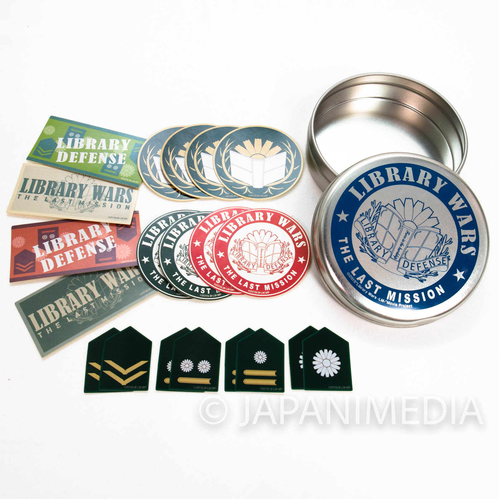 Library War: The Last Mission Mini Sticker 20pc & Can case Set JAPAN (LIVE-ACIOTN MOVIE)