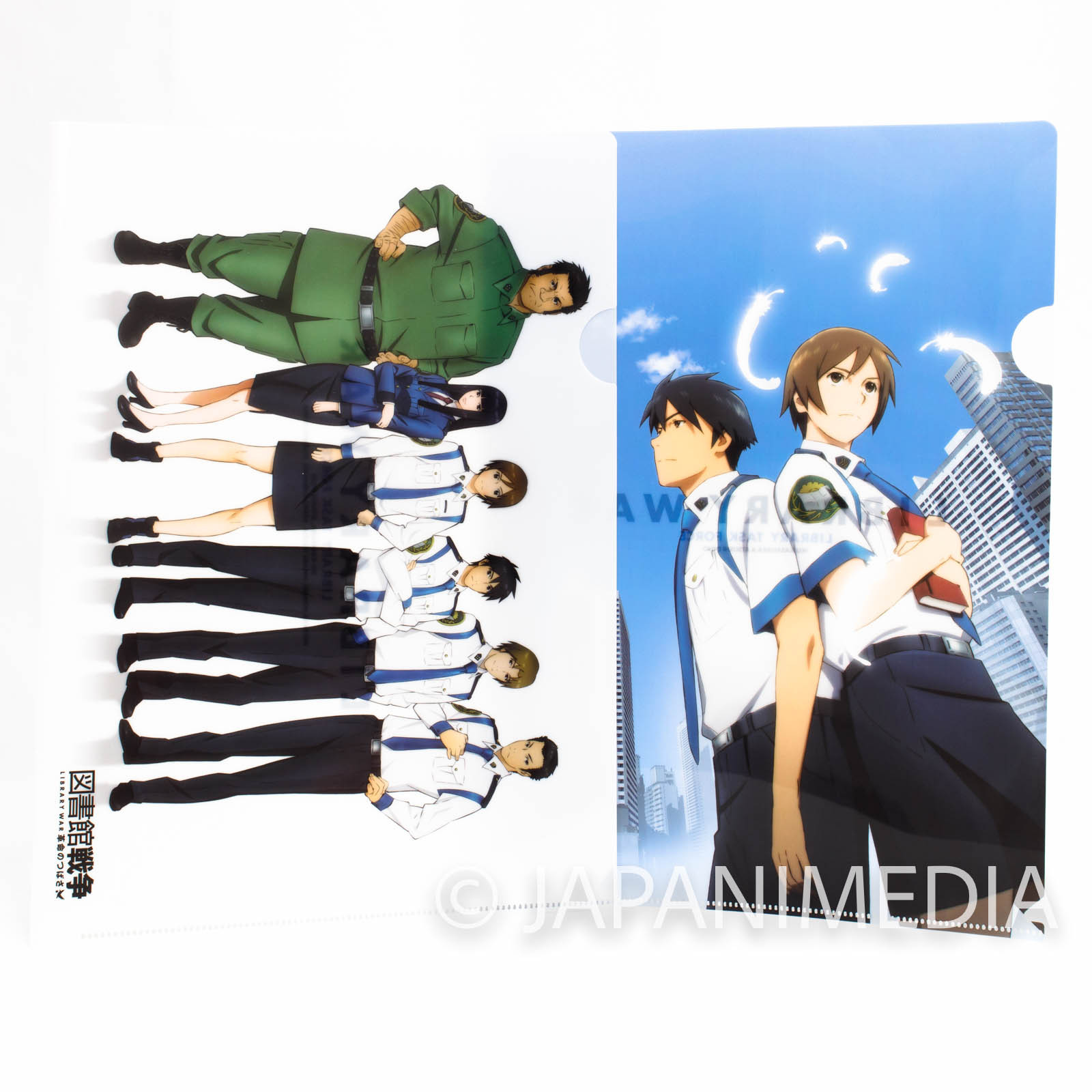 Library War: The Wings of Revolution Clear File Folder 2pc set JAPAN ANIME MOVIE