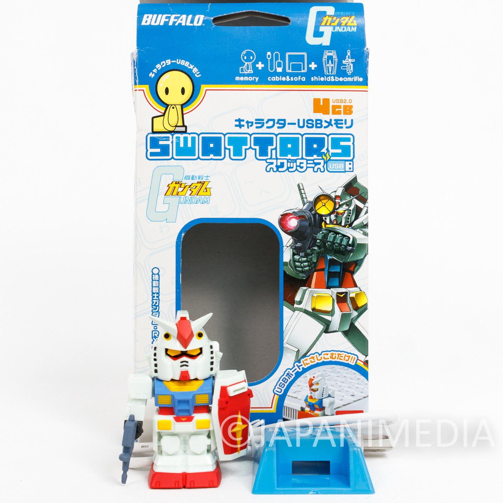Gundam RX-78 Figure Type USB Flash Memory 4GB Buffalo JAPAN