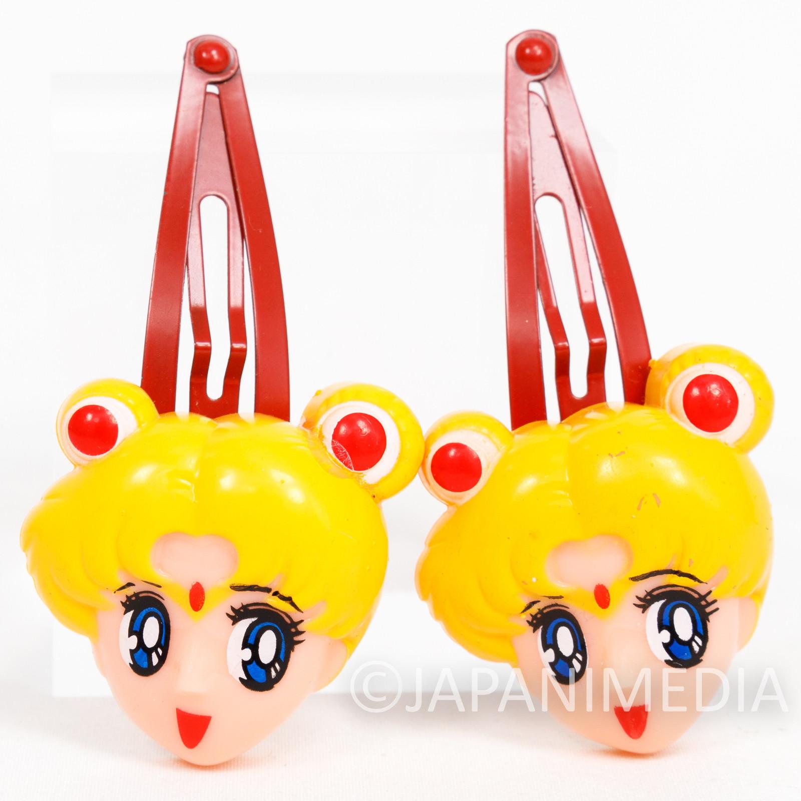 Retro RARE!! Sailor Moon Mascot Hair Clip Accessory Set JAPAN ANIME MANGA