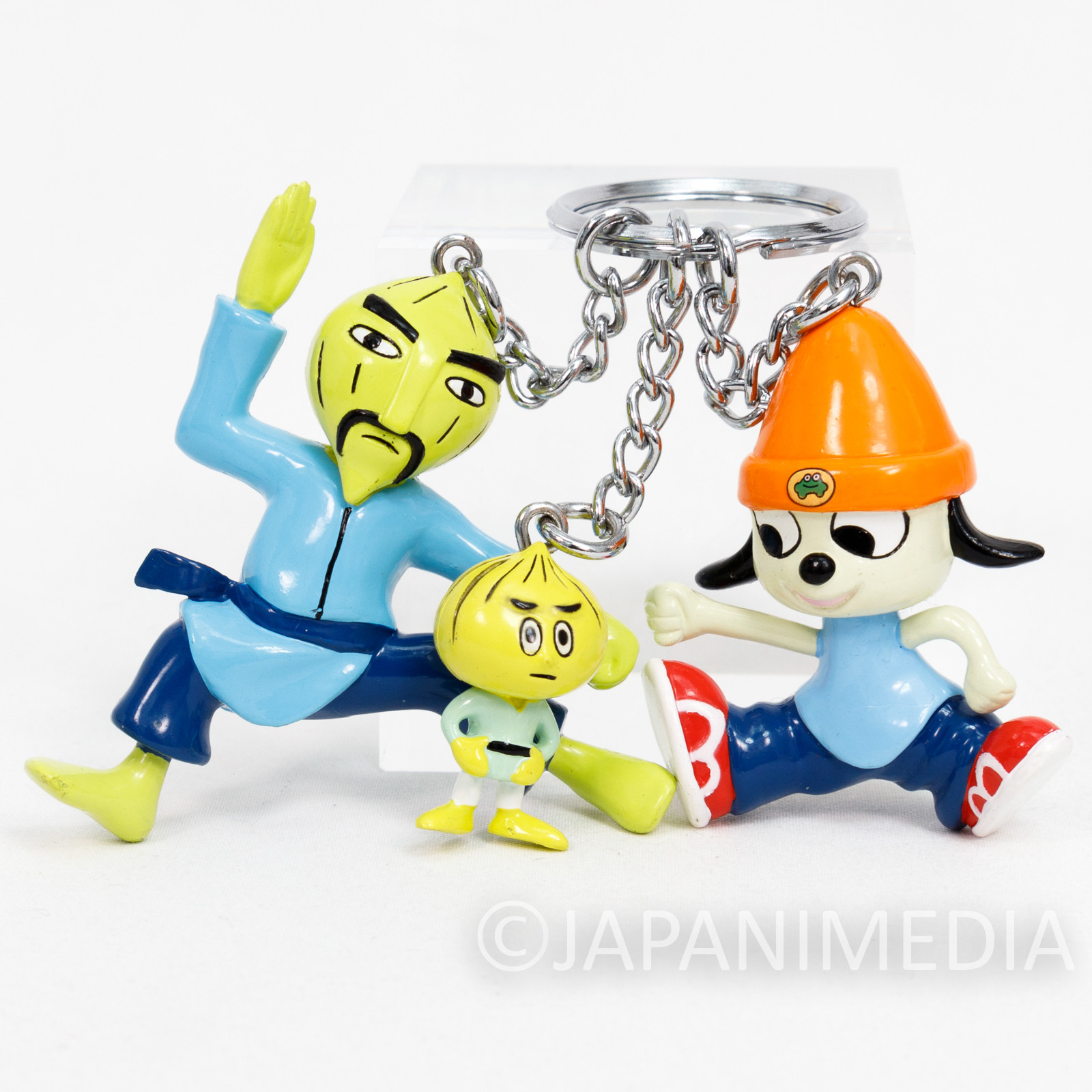 Parappa The Rapper Triple Character Figure Key Chain JAPAN ANIME GAME 2