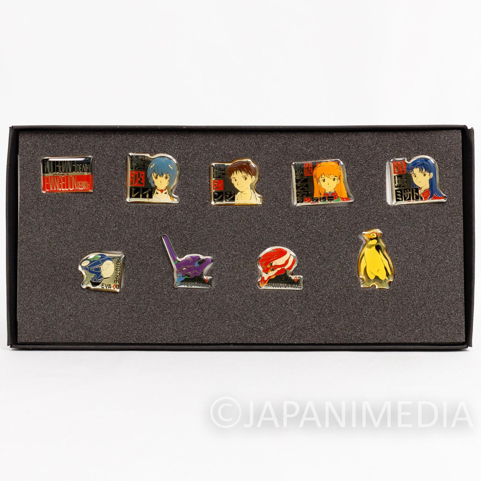 Evangelion Pins Collection Set NERV Shinji Asuka Ayanami Misato Penpen