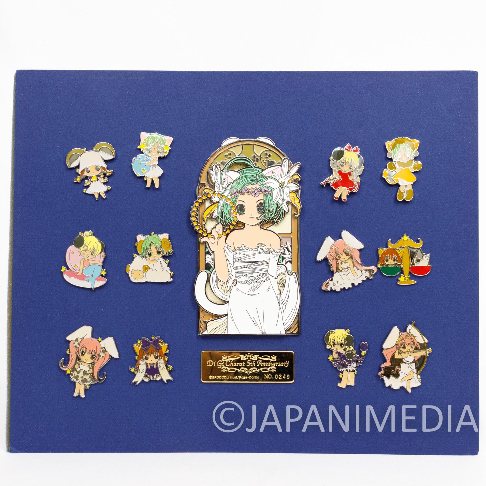 Di Gi Charat Metal Pins Set 5ht Anniversary Limited JAPAN ANIME GAMERS
