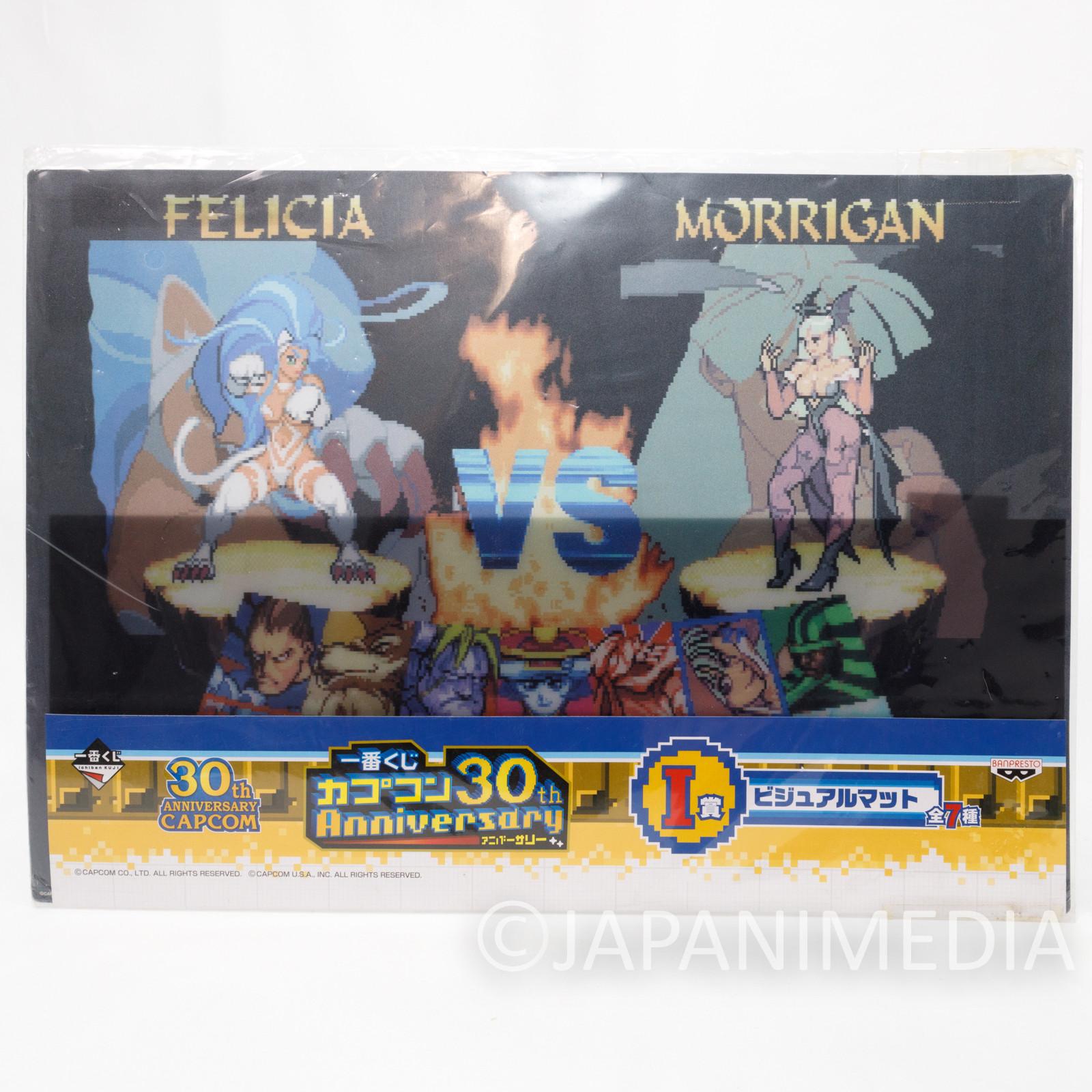 Night Warriors Vampire Hunter Visual Mat Morrigan vs Felicia Capcom JAPAN