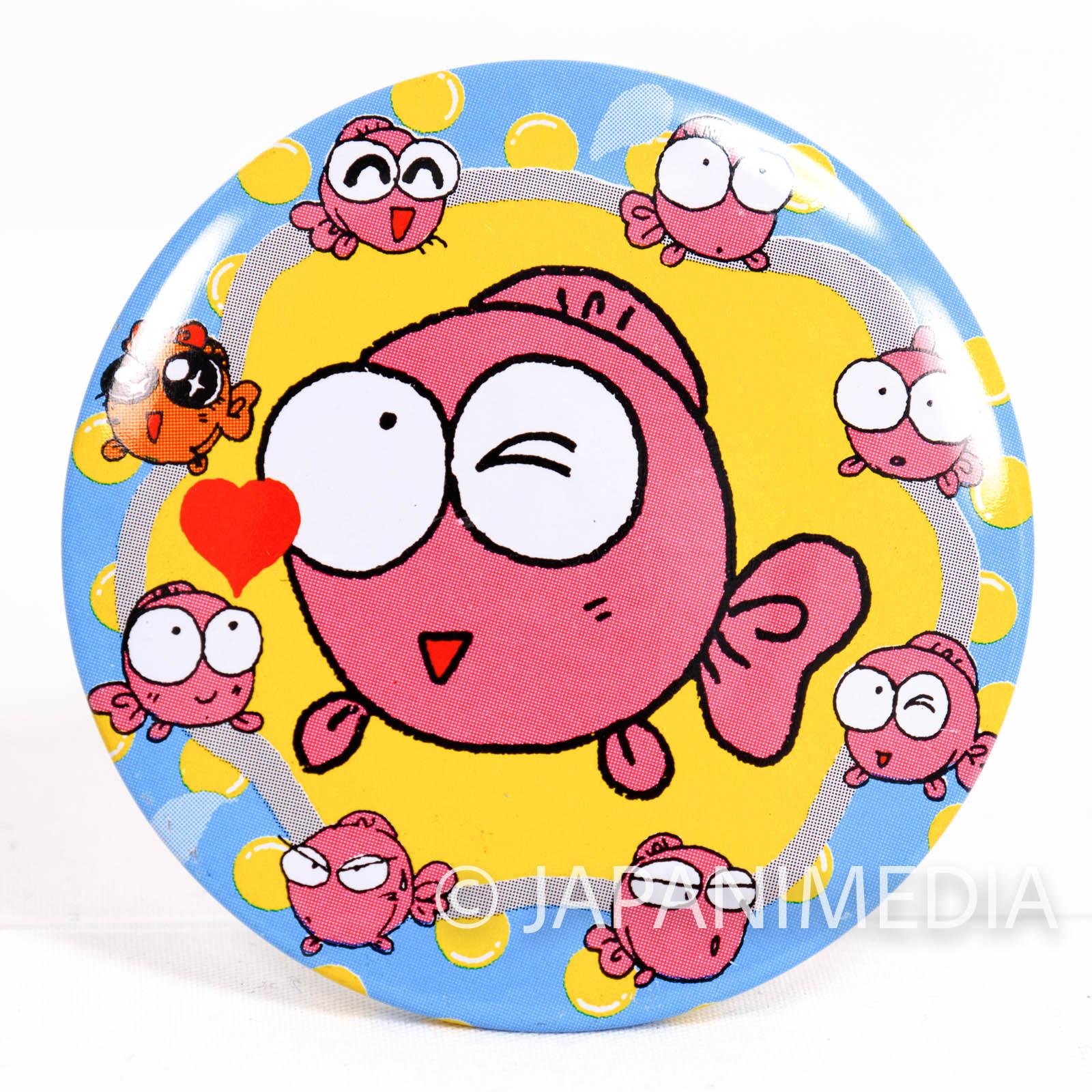 RARE! Goldfish Warning! Button Badge #1 JAPAN ANIME MANGA
