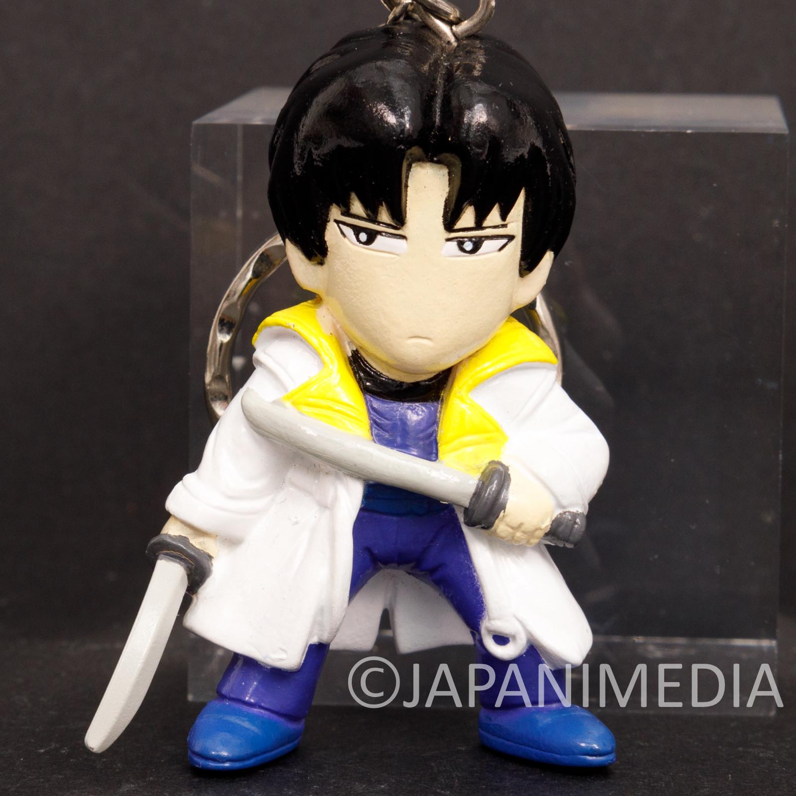 Rurouni Kenshin Aoshi Shinomori Figure Keychain JAPAN ANIME MANGA