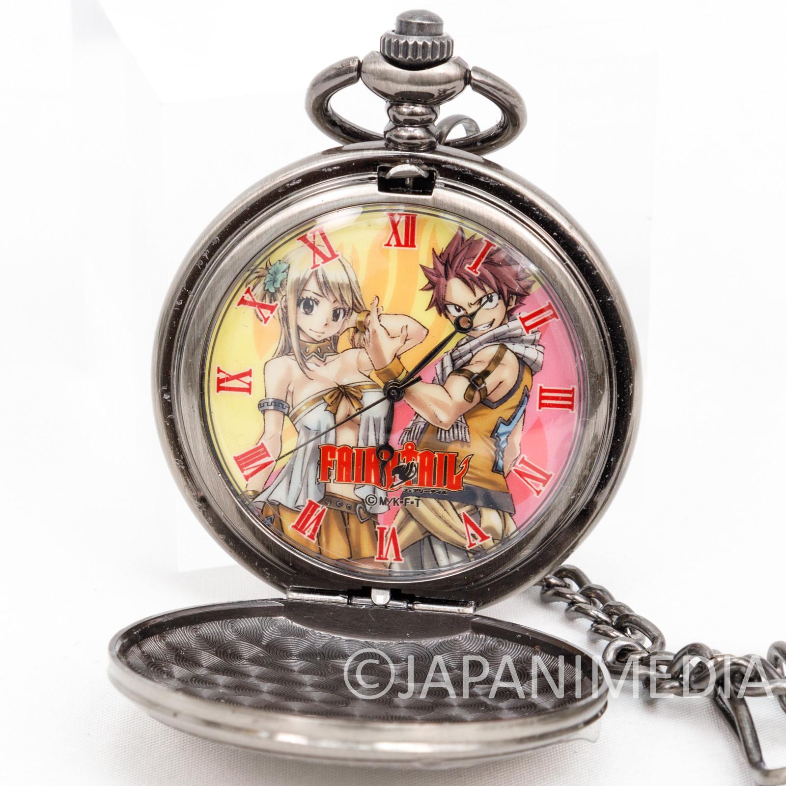 FAIRY TAIL Pocket Watch Natsu Lucy JAPAN ANIME MANGA