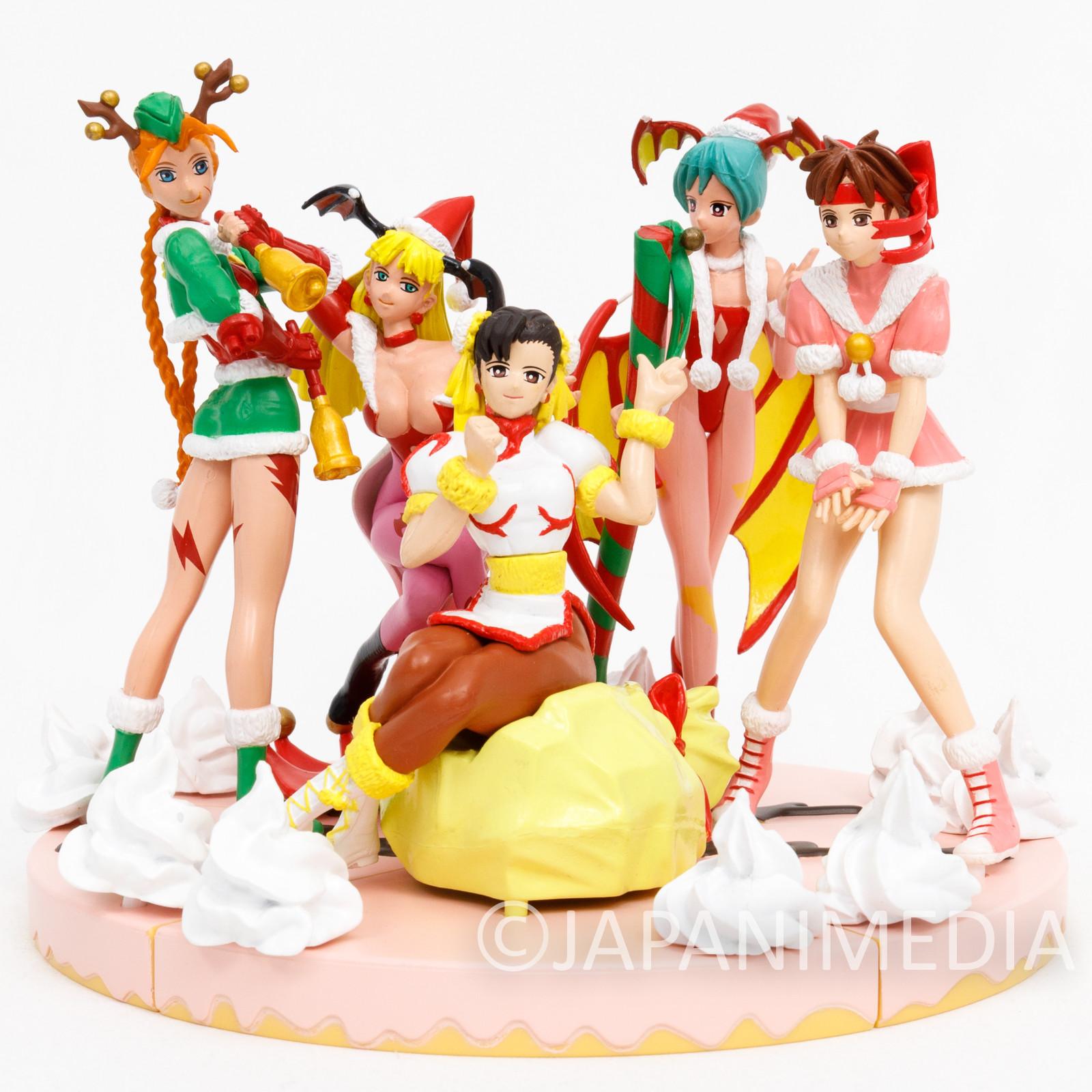 Complete Set Capcom Christmas Santa Cosplay Figure Street Fighter Darkstalkers