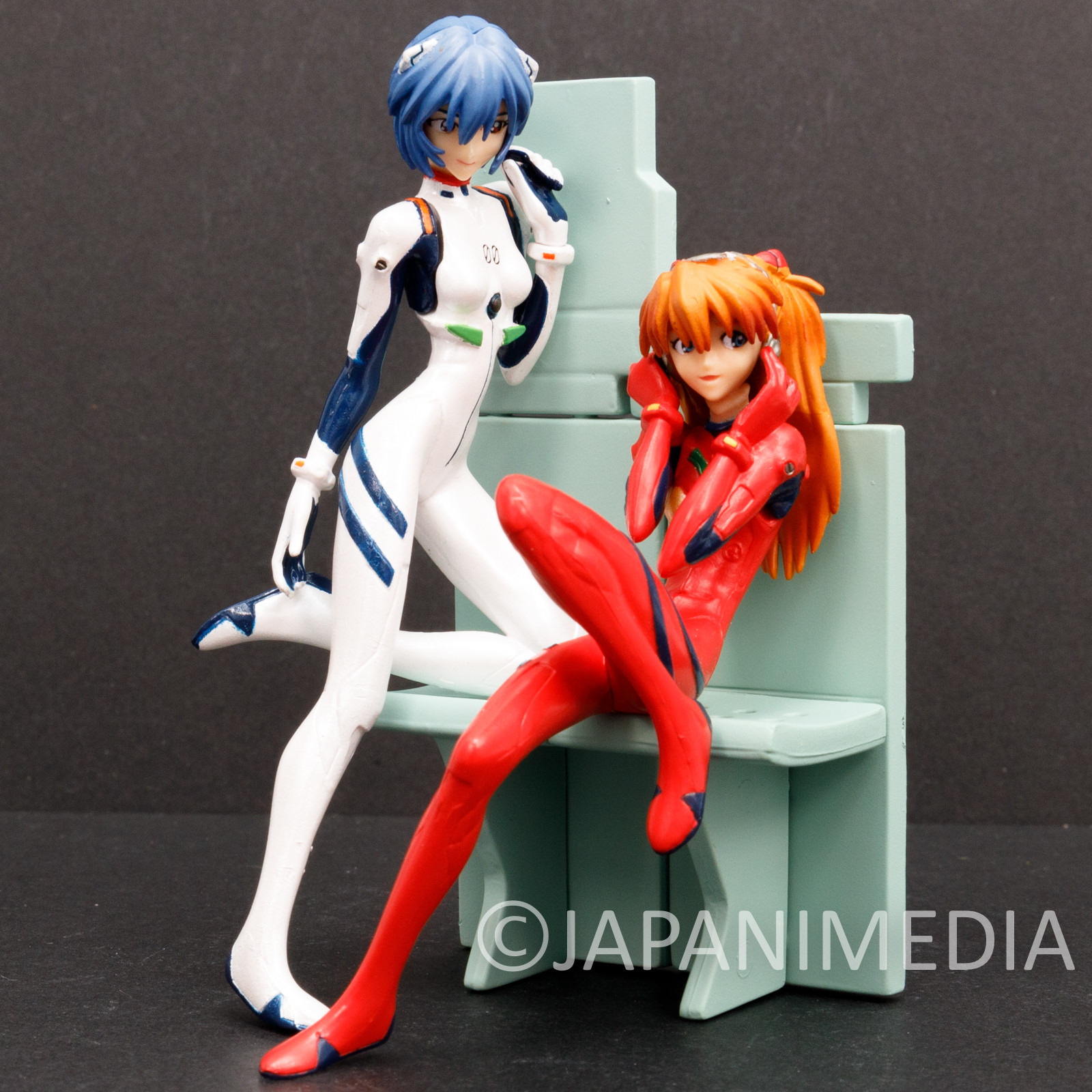 Evangelion Asuka Langley & Rei Ayanami Mini Figure BANDAI JAPAN ANIME