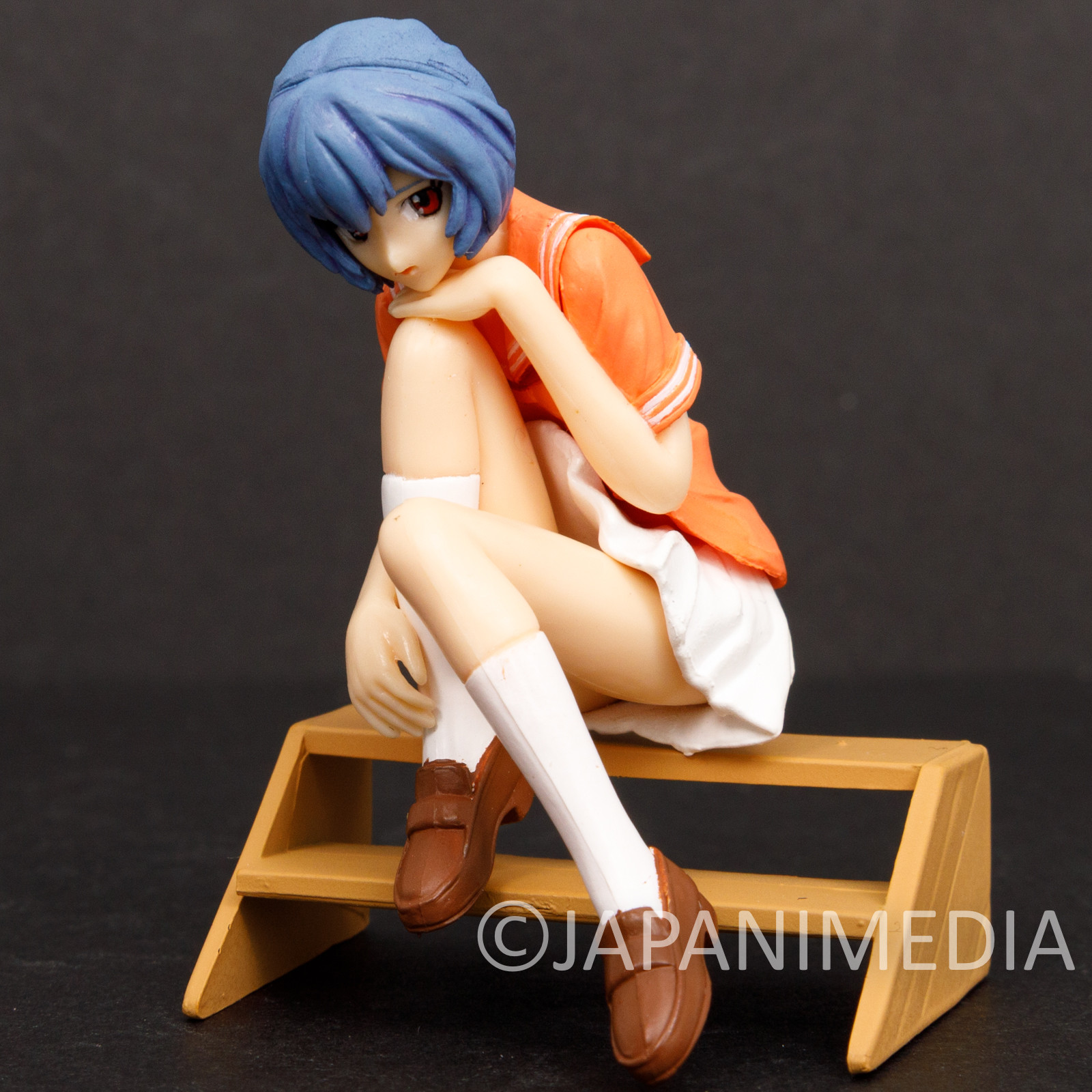 Evangelion Rei Ayanami Casual Clothes On the Stairs Figure BANDAI JAPAN