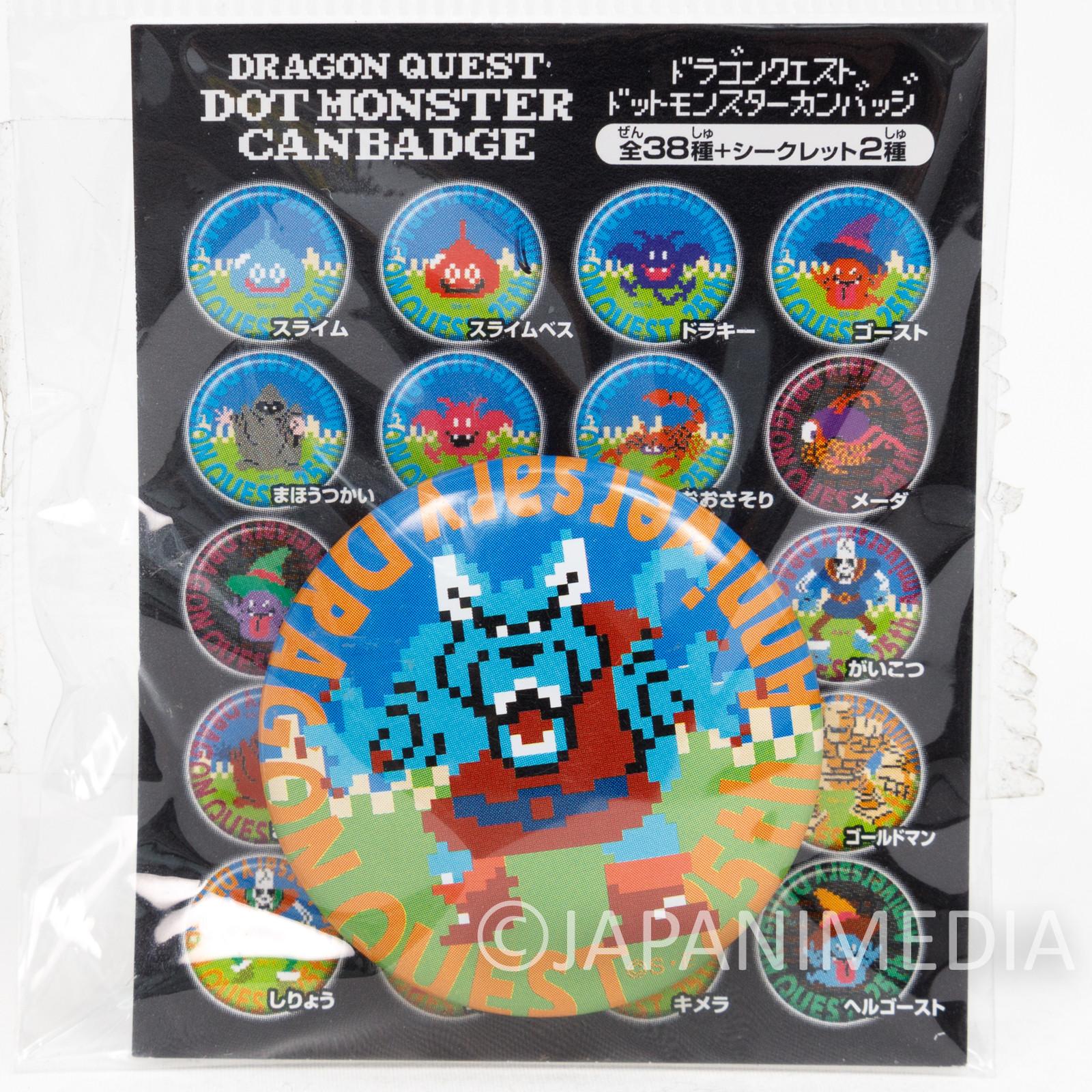 Dragon Quest Werewolf Dot Monster Can Badge Pins WARRIOR ENIX