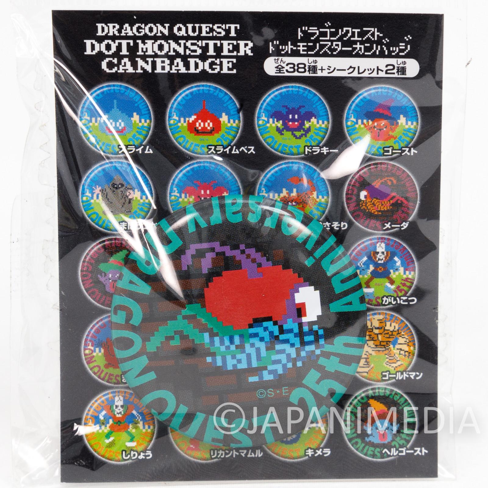 Dragon Quest Druinlord Dot Monster Can Badge Pins WARRIOR ENIX