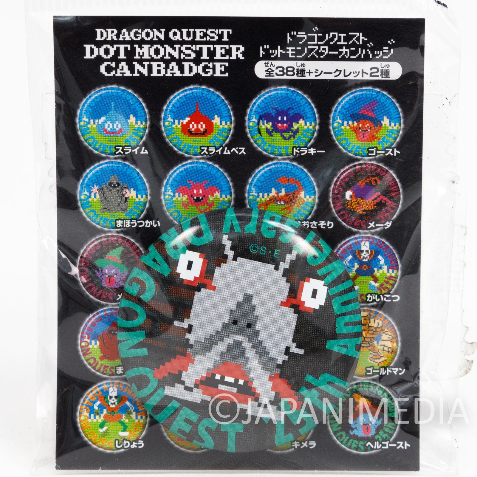 Dragon Quest Drollmagi Dot Monster Can Badge Pins WARRIOR ENIX