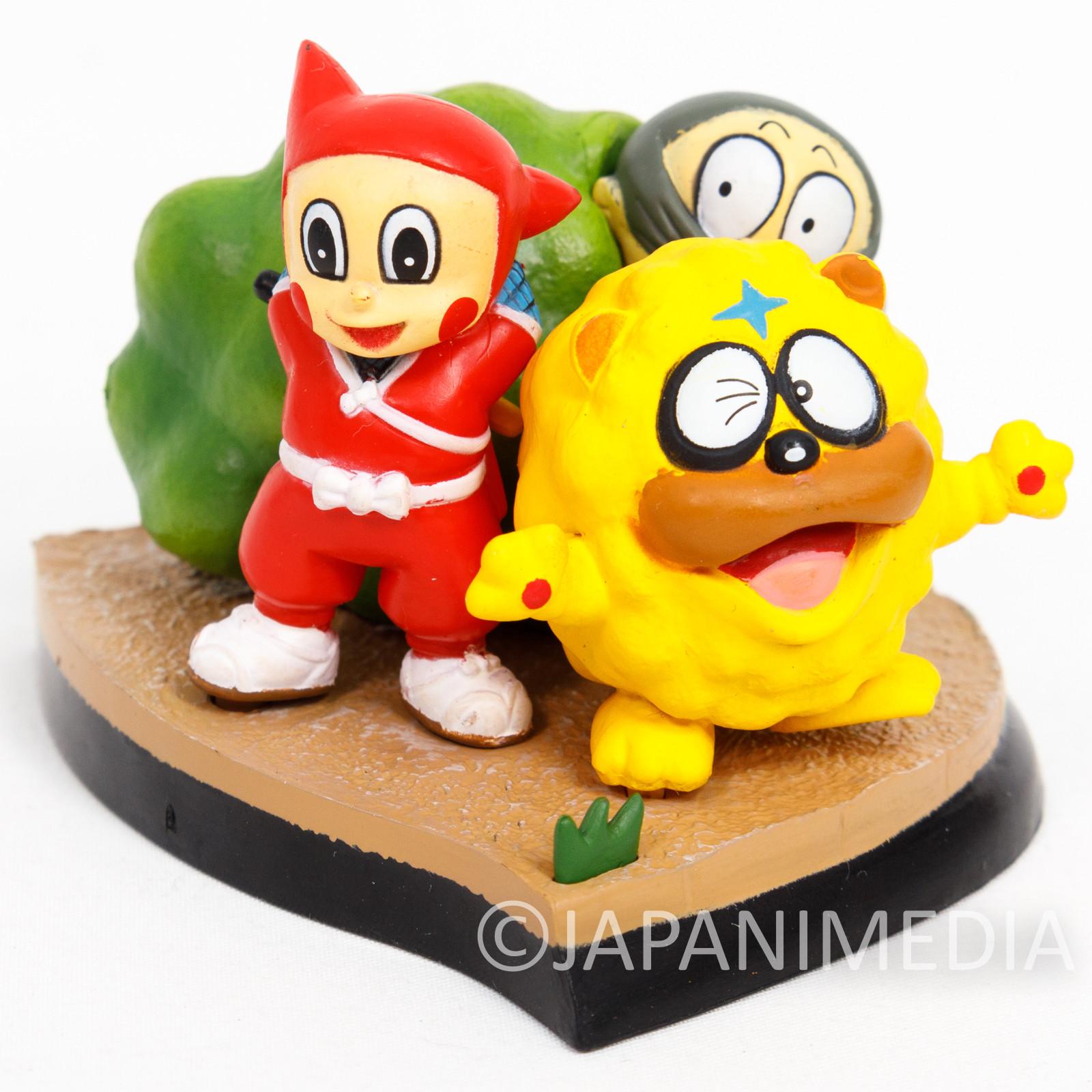 Retro RARE Ninja Hattori Kun Shinzo & Shishimaru Diorama Figure JAPAN ANIME