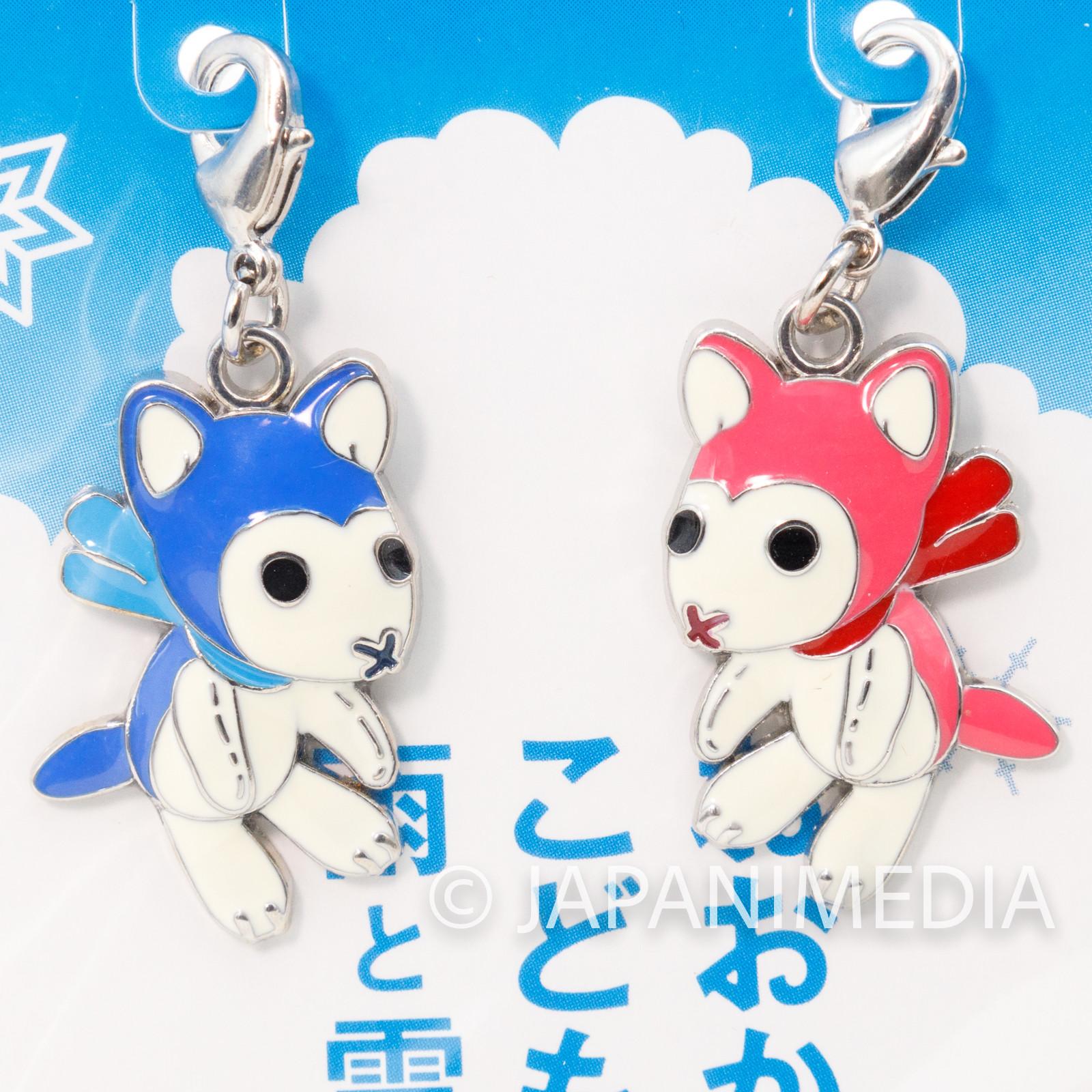 Wolf Children Ame and Yuki Mini Metal Charm JAPAN ANIME Ookami Kodomo