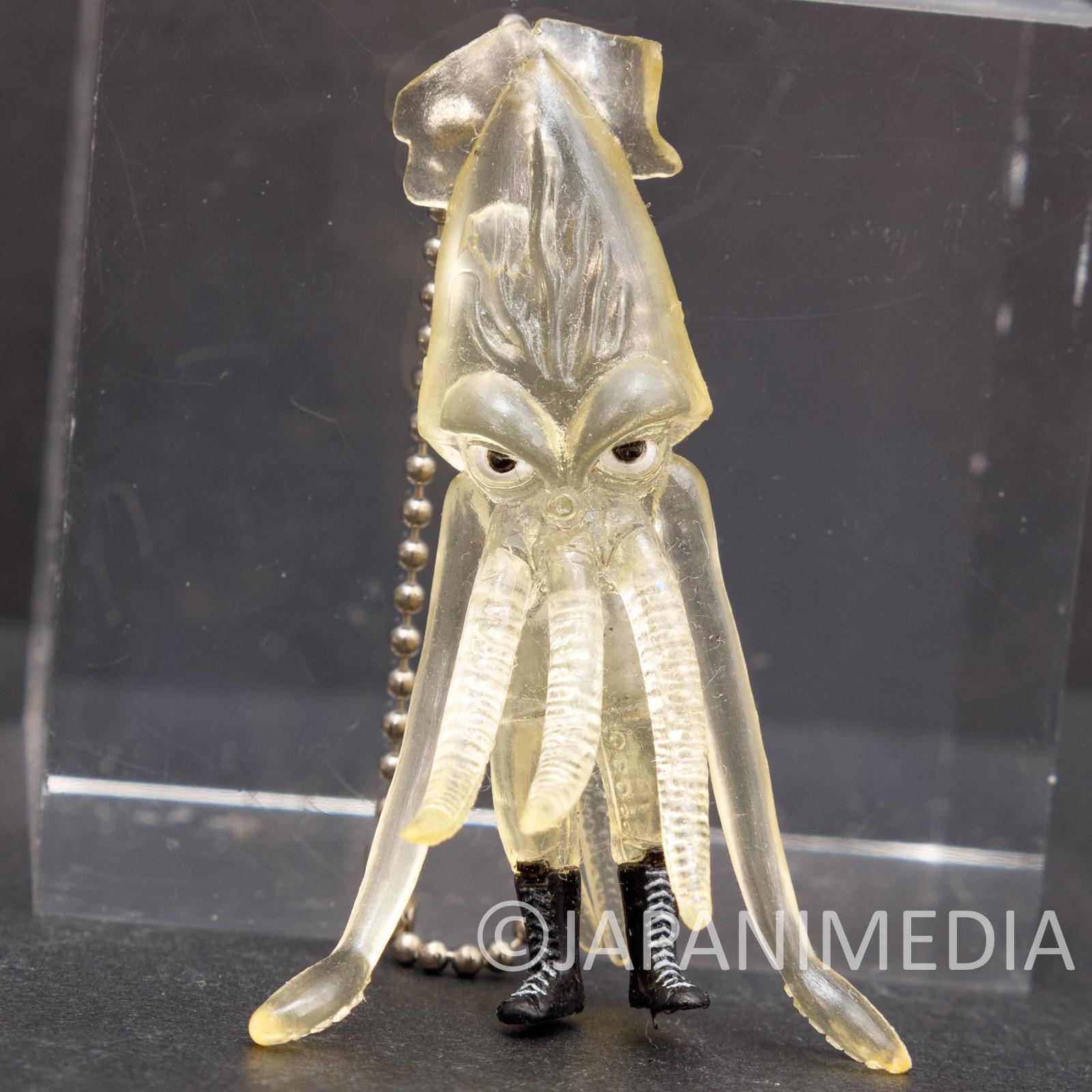 RARE Ika Calamari Wrestler Movie Figure Keychain Transparent ver. JAPAN