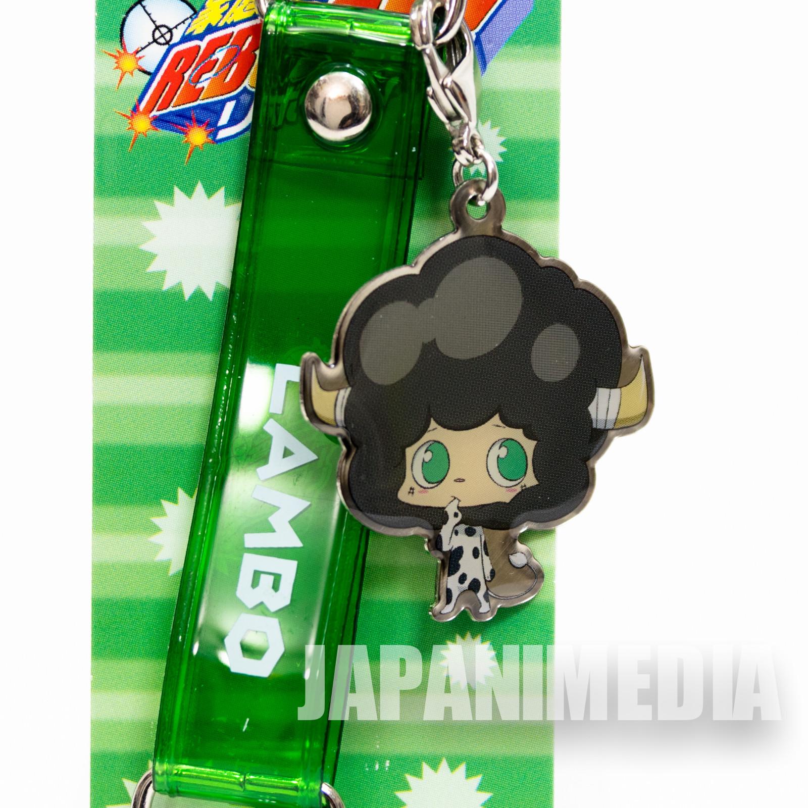 Katekyo Hitman REBORN! Lambo Metal Charm Strap JAPAN ANIME WEEKLY JUMP
