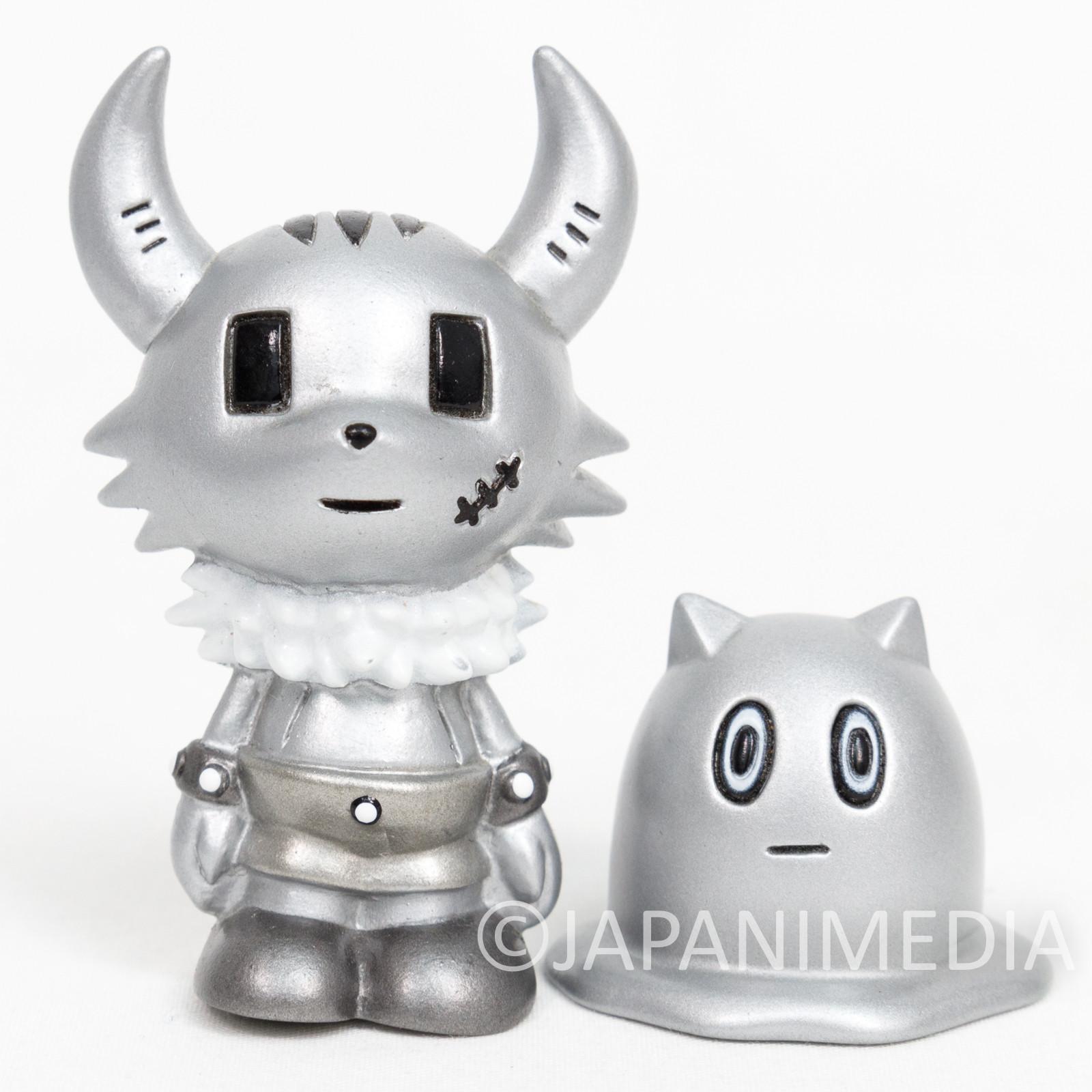 Ponkotsu Quest Plastic Kaku & Imura Finger Puppet Soft Vinyl Figure Silver ver.