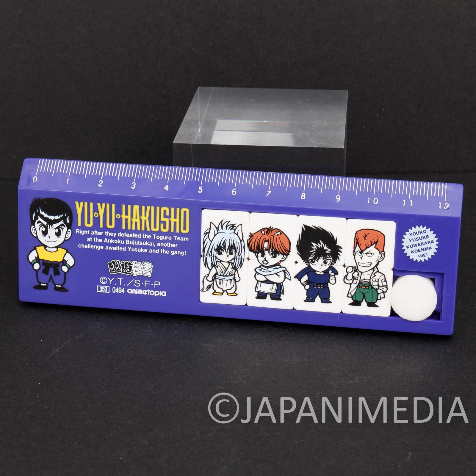 Yu Yu Hakusho Plastic Ruler 12cm Yusuke Kuwabara Kurama Hiei