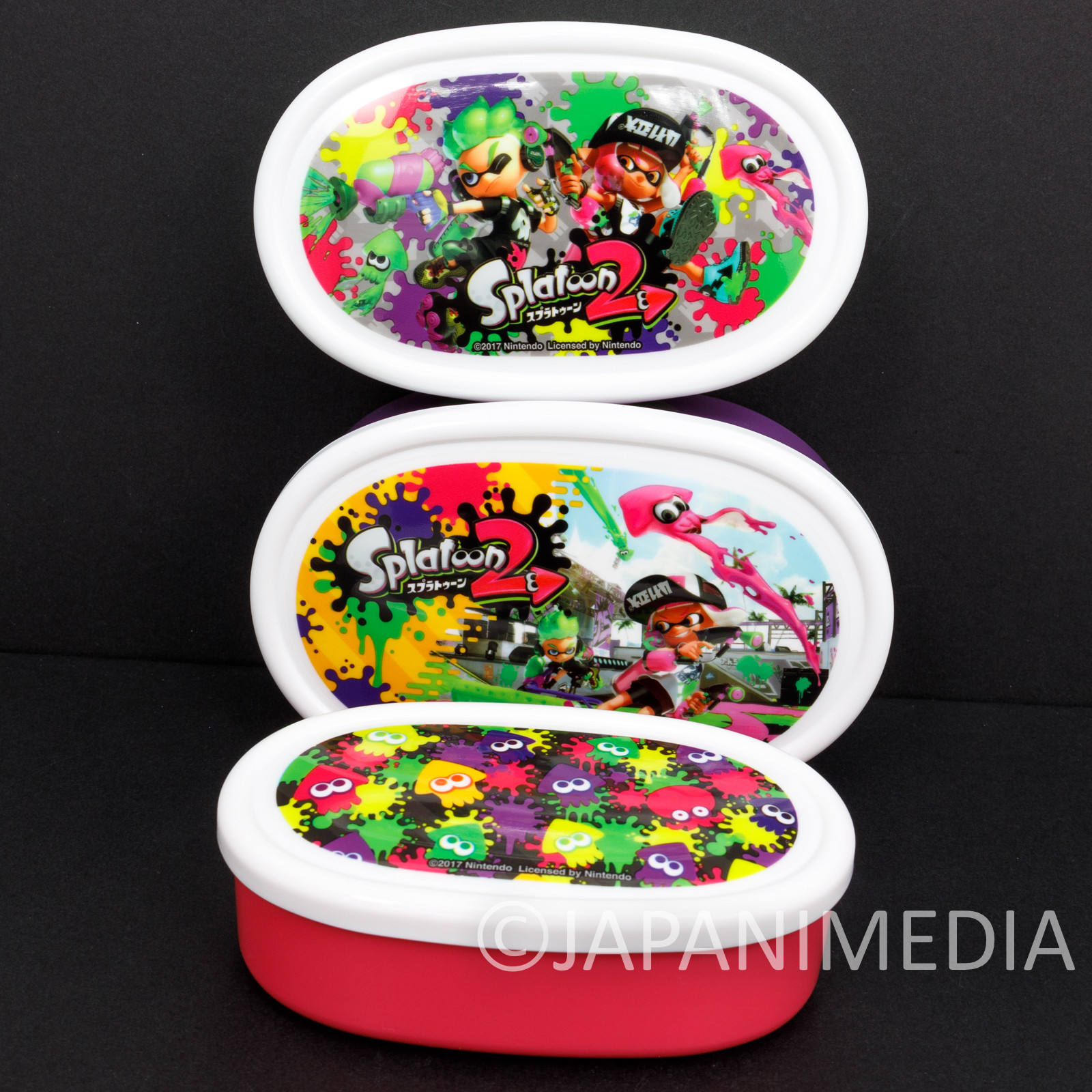 Splatoon Sealed Container L+M+S 3pc Nintendo JAPAN Nintendo Switch
