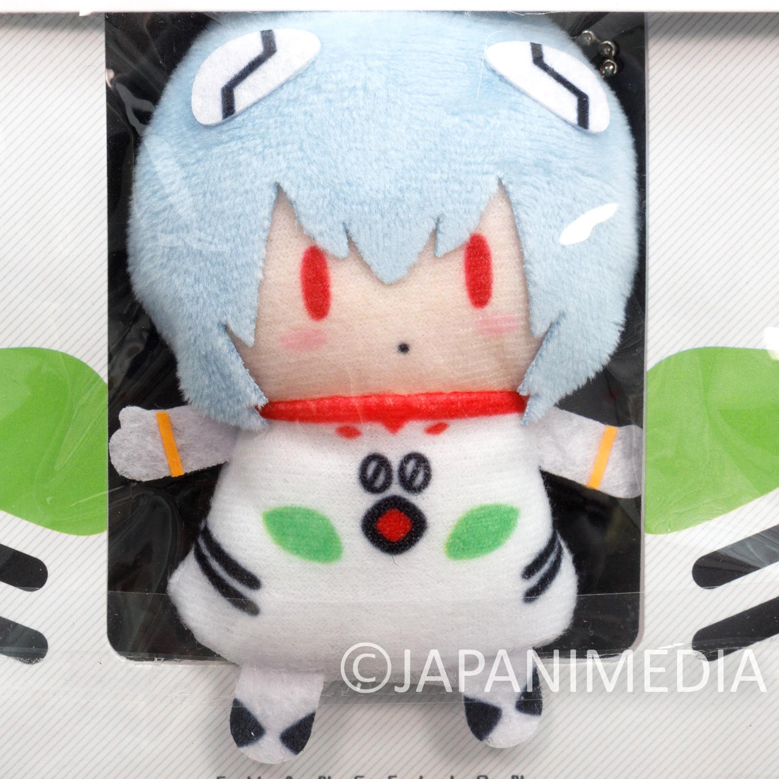 Evangelion Rei Ayanami Plug Suit Finger Puppet Plush Doll Ballchain JAPAN ANIME