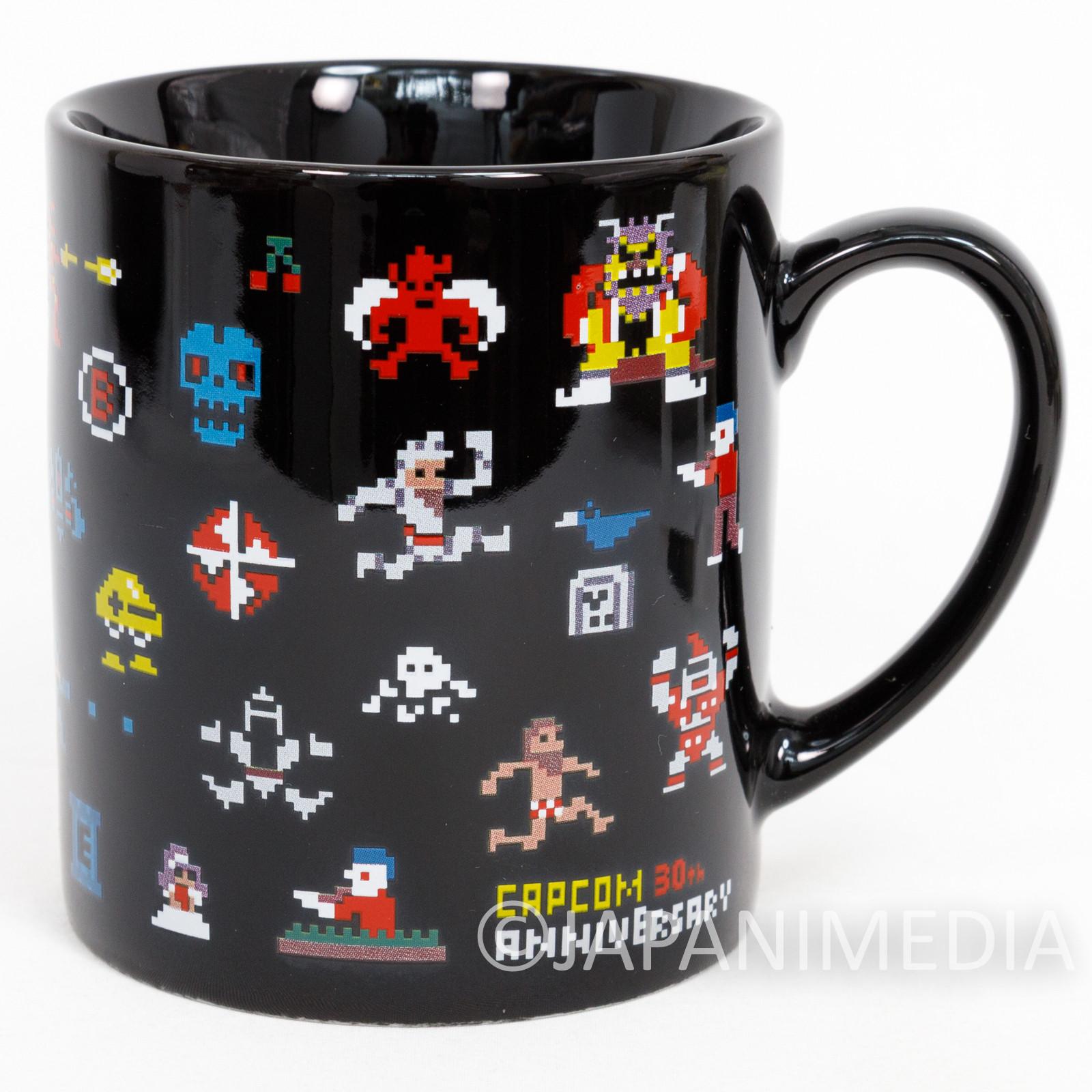 Capcom Dot Character Design Mug / Mega Man Ghosts'n Goblins 1942 Final Fight