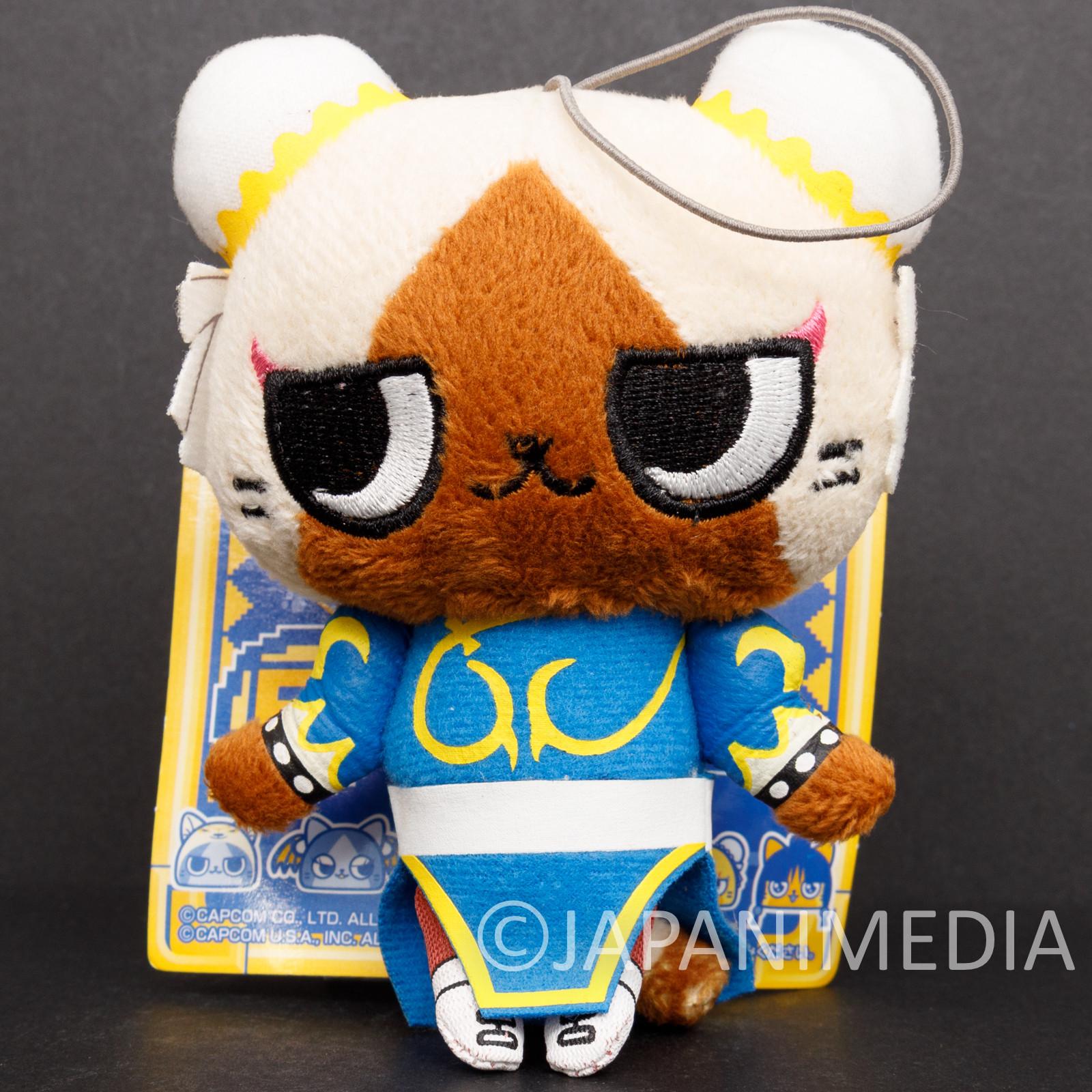 Street Fighter Chun-Li x Monster Hunter Felyne Airou Plush Doll Capcom