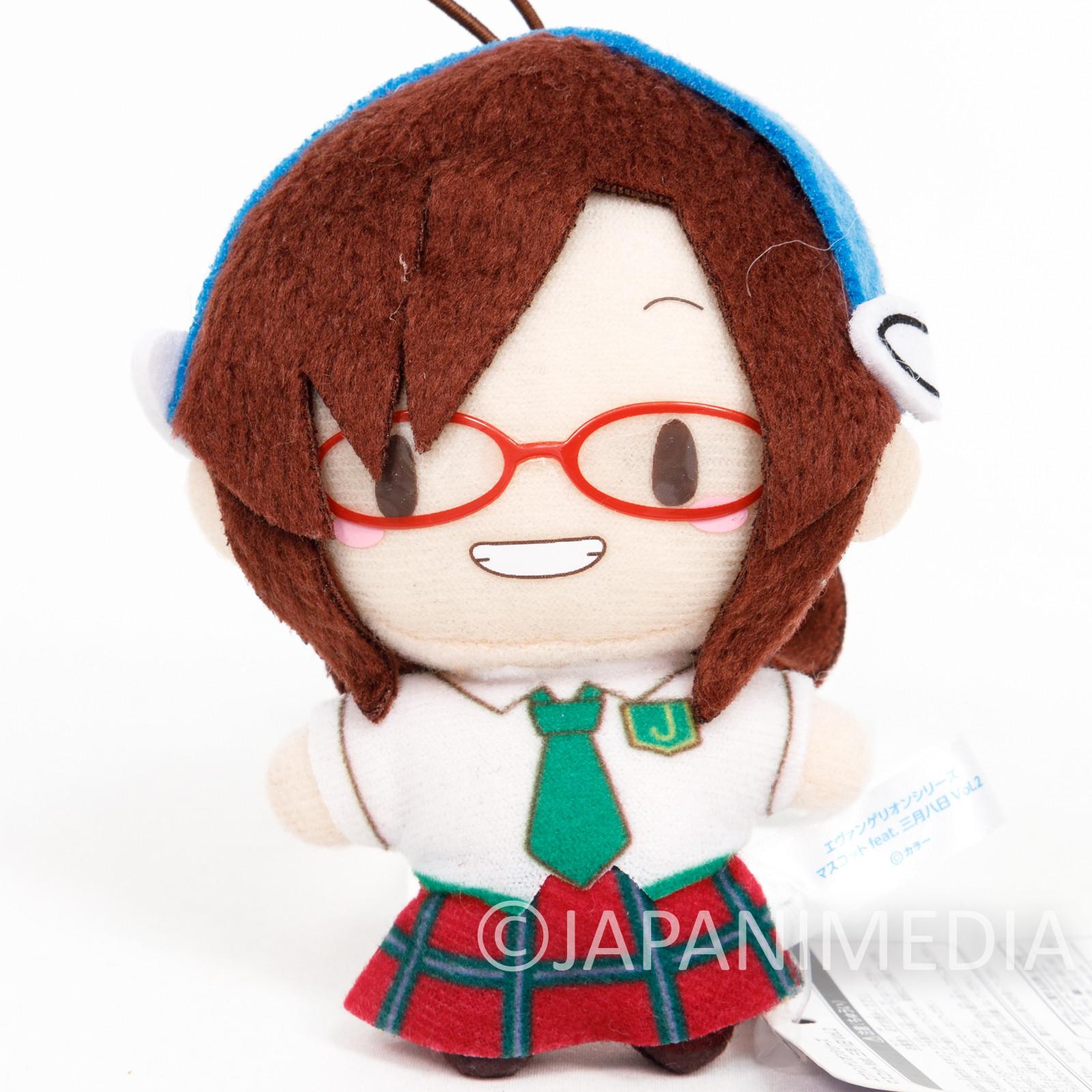 Evangelion Mari Illustrious School Uniform Mini Plush Doll SEGA JAPAN ANIME
