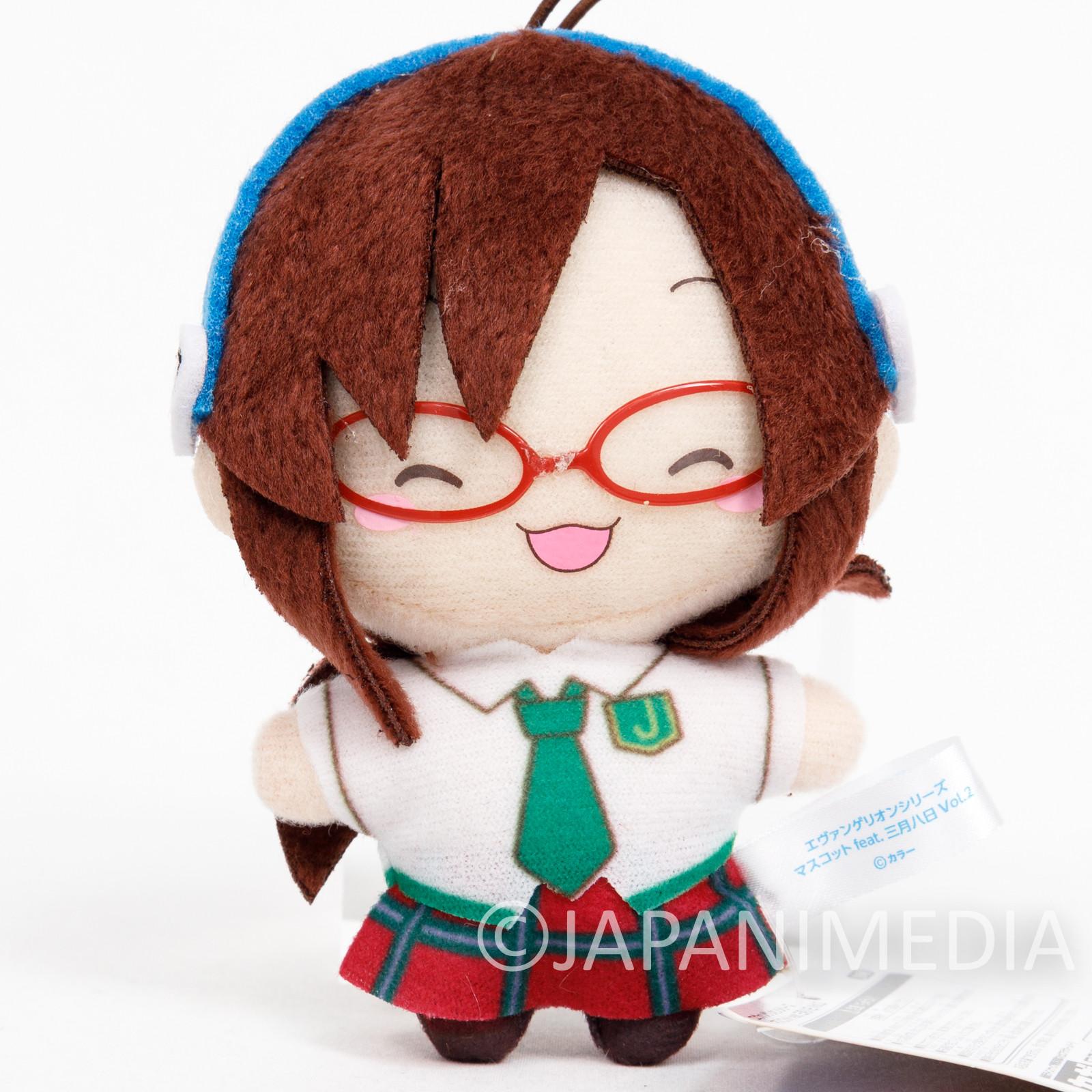 Evangelion Mari Illustrious School Uniform Mini Plush Doll SEGA JAPAN ANIME 2