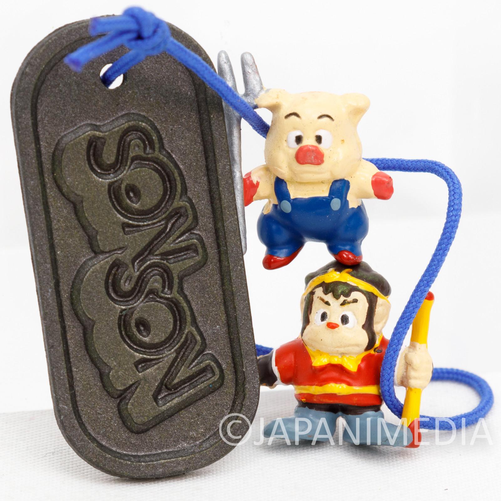 RARE! SON SON Son Son & Ton Ton Small Figure Plate Strap Capcom