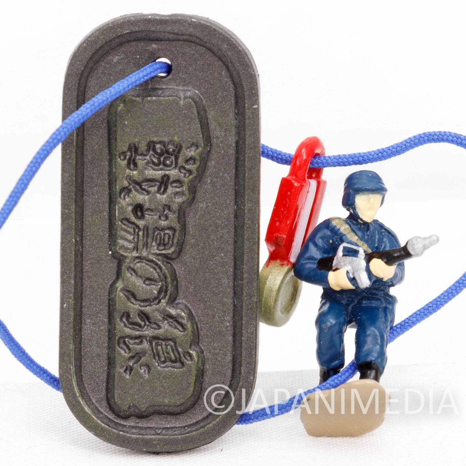 RARE! Commando Super Joe & Badge Small Figure Plate Strap Capcom Senjo no Okami